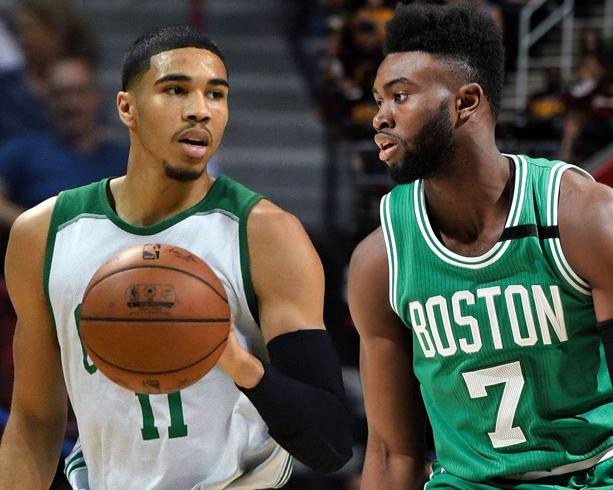 Report: Jaylen Brown, Jayson Tatum Off Limits in Kyrie Irving