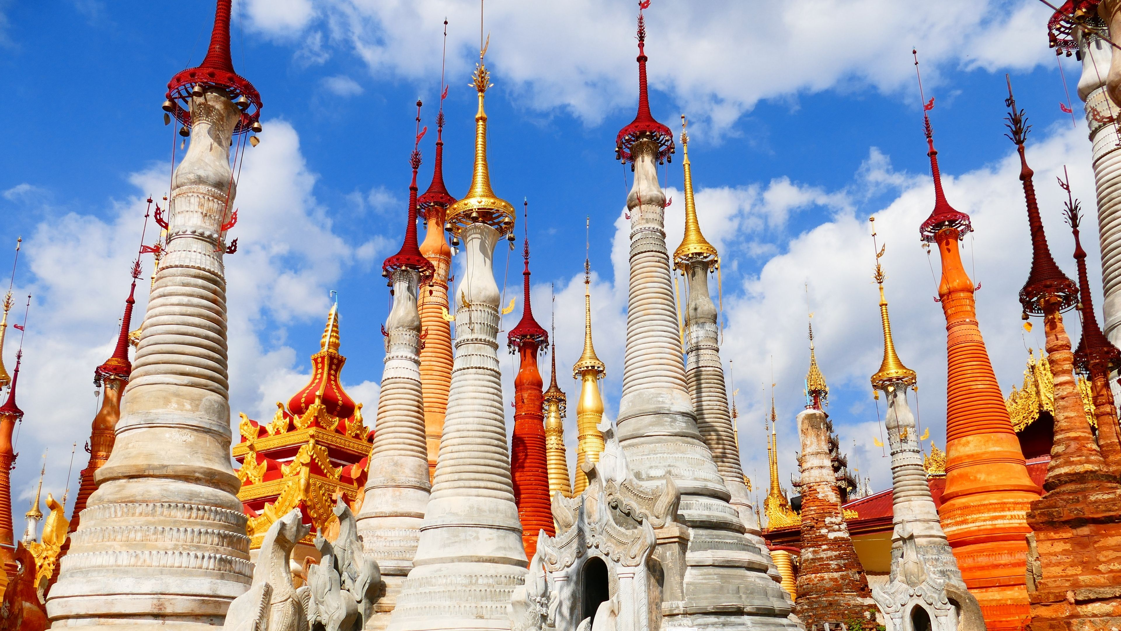 Download Wallpapers 3840x2160 Buildings, Myanmar, Burma, Pagoda