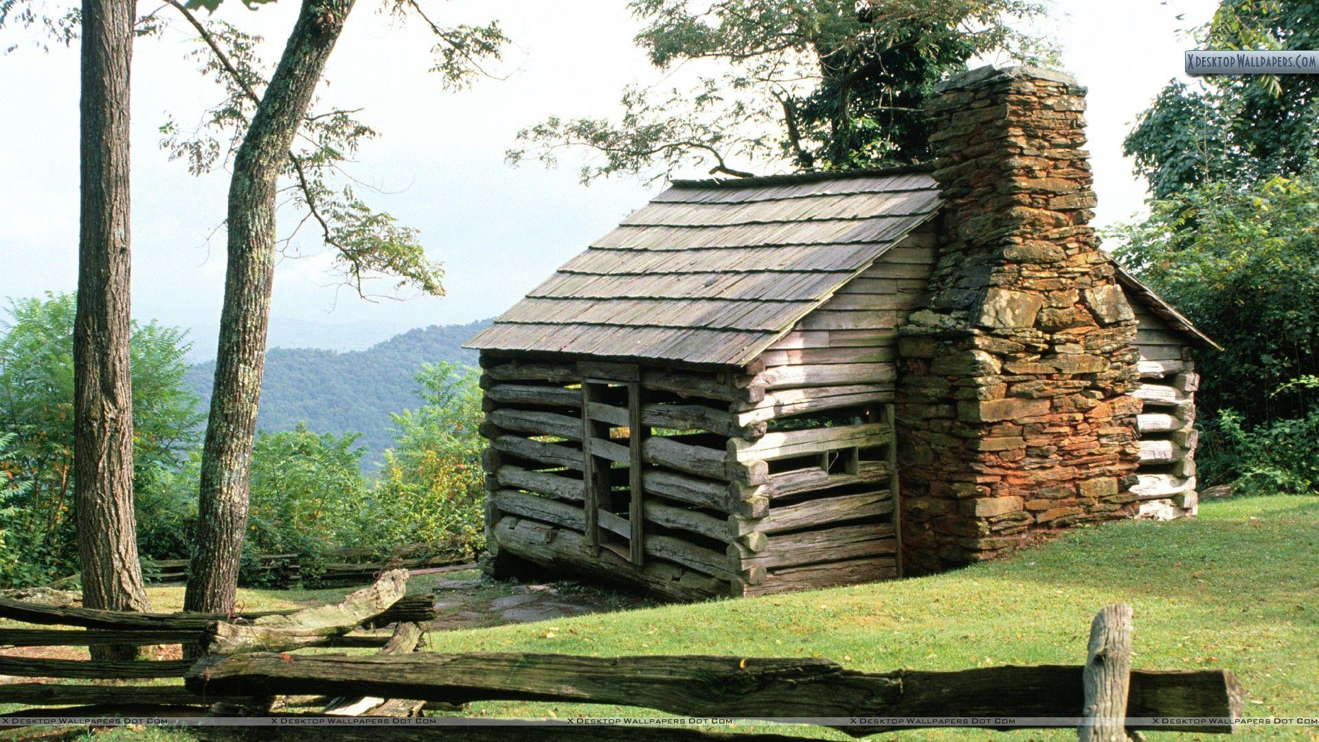 Log Cabin, Blue Ridge Parkway, Virginia Wallpapers