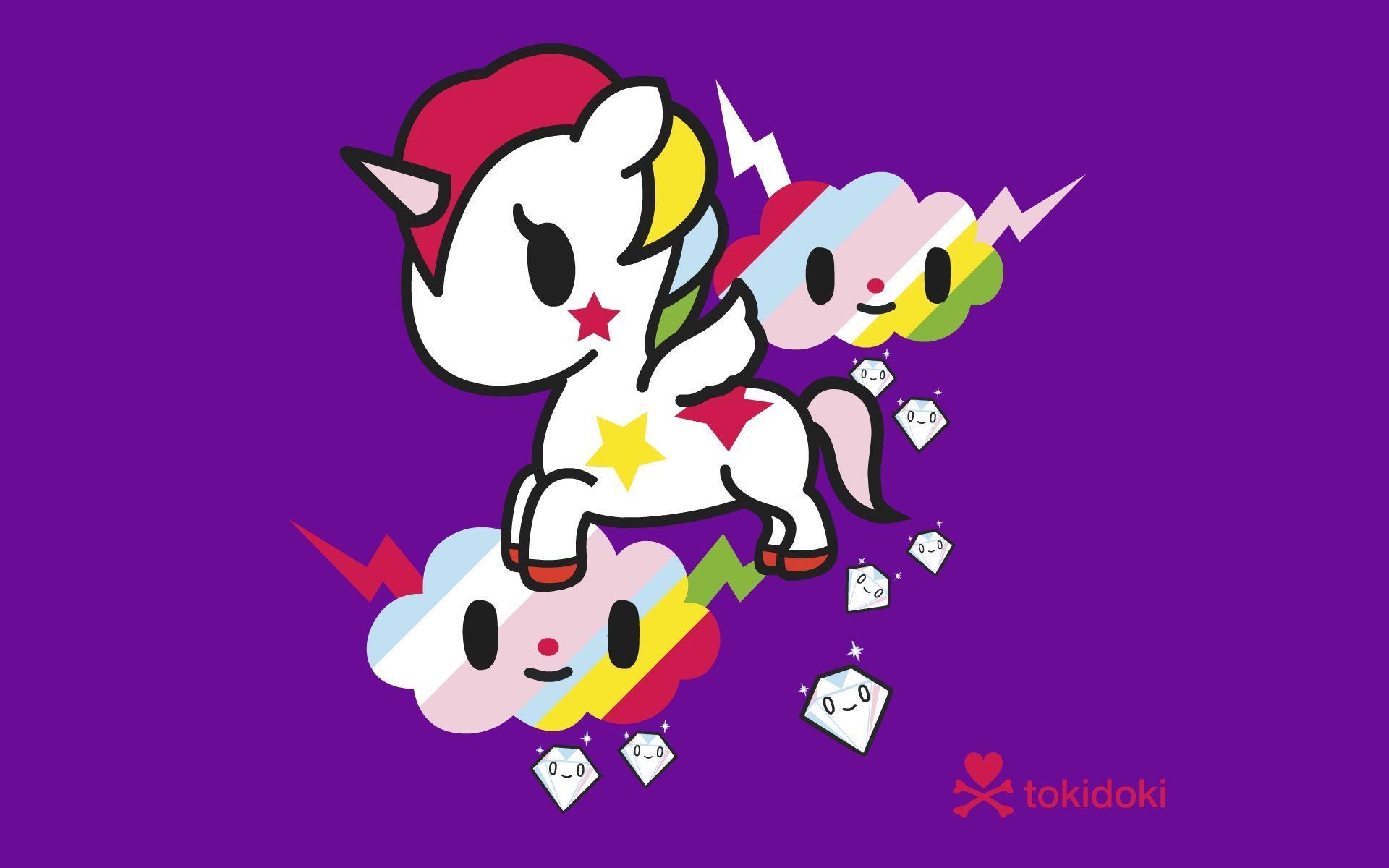 Cartoon Unicorn Wallpaper - WallpaperSafari