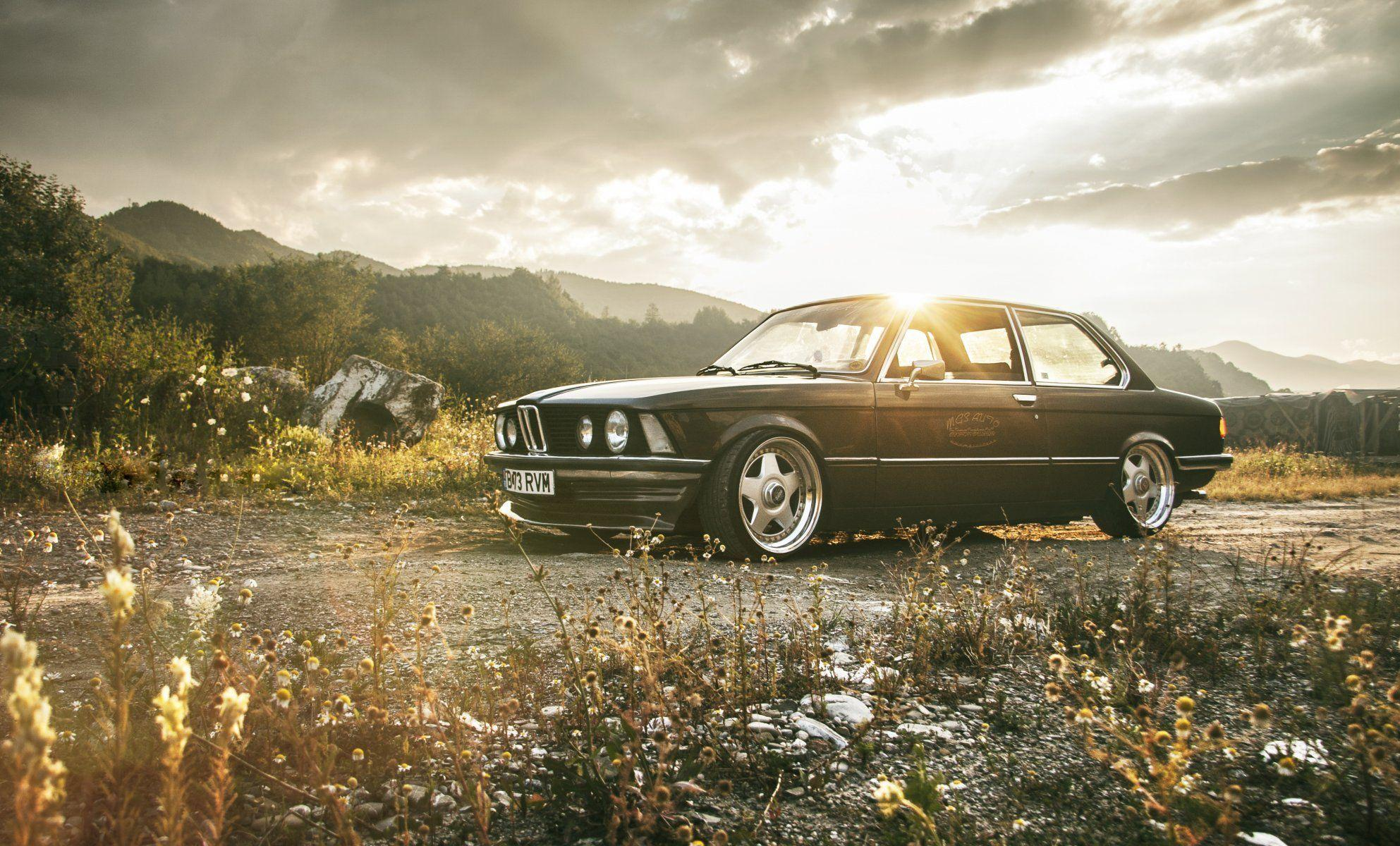 bmw e21 stance bmw classic retro tuning drives dawn HD wallpapers