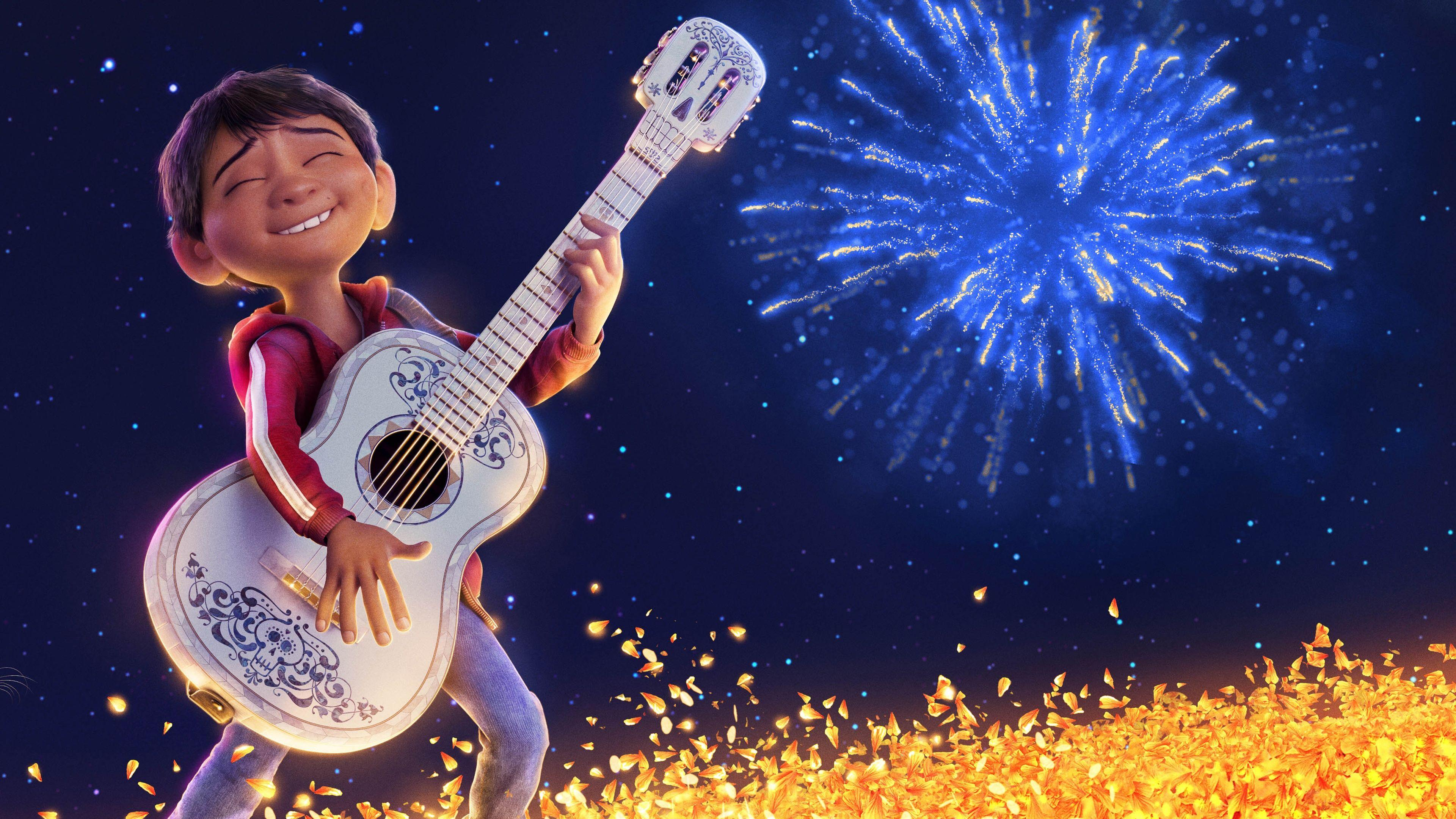 UHD 4K Coco Miguel Playing Guitar Animated Movie