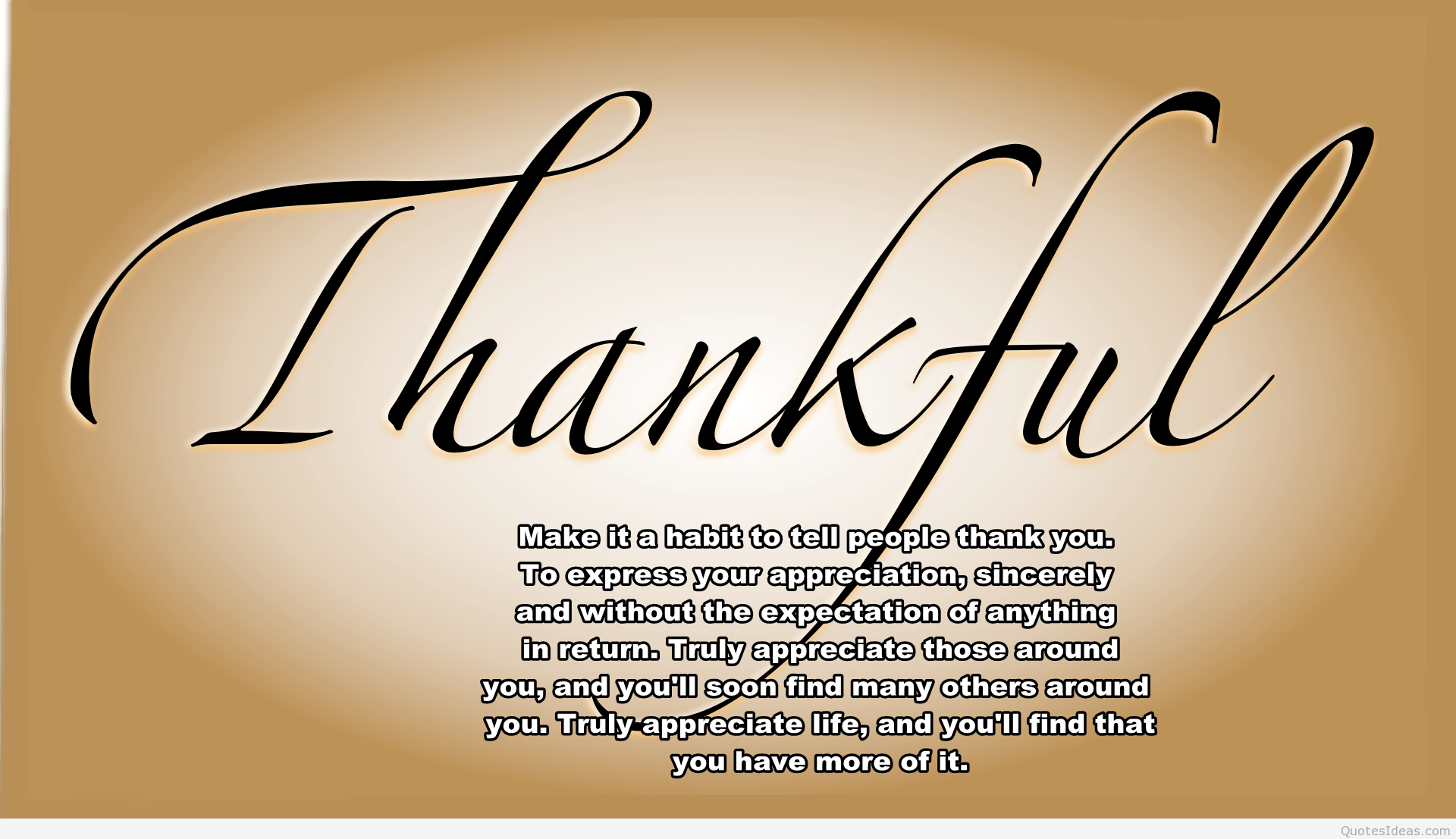Awesome Thankful Quote Hd Wallpaper