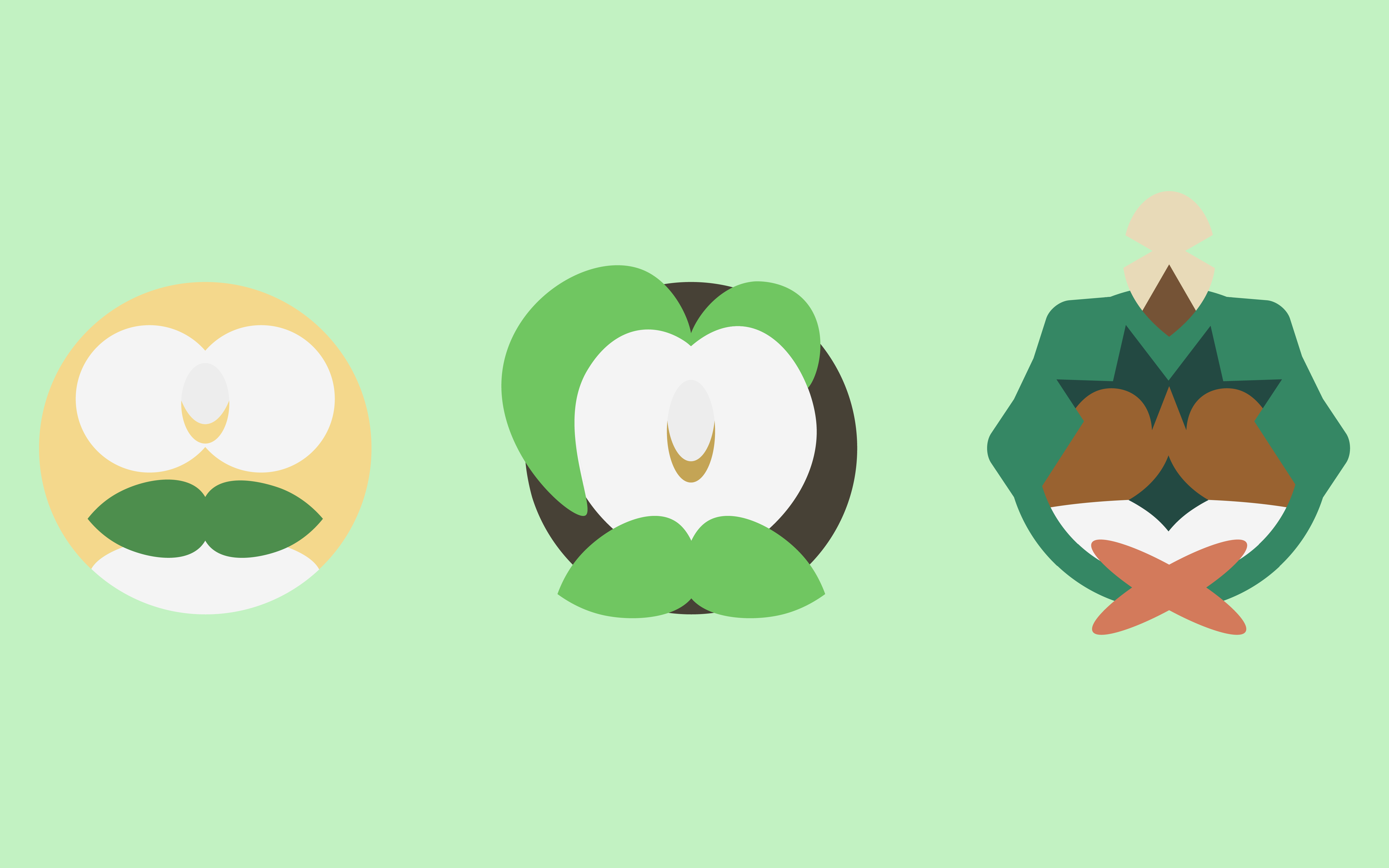 Rowlet Evolution Line Wallpaper I Made : PokeMoonSun