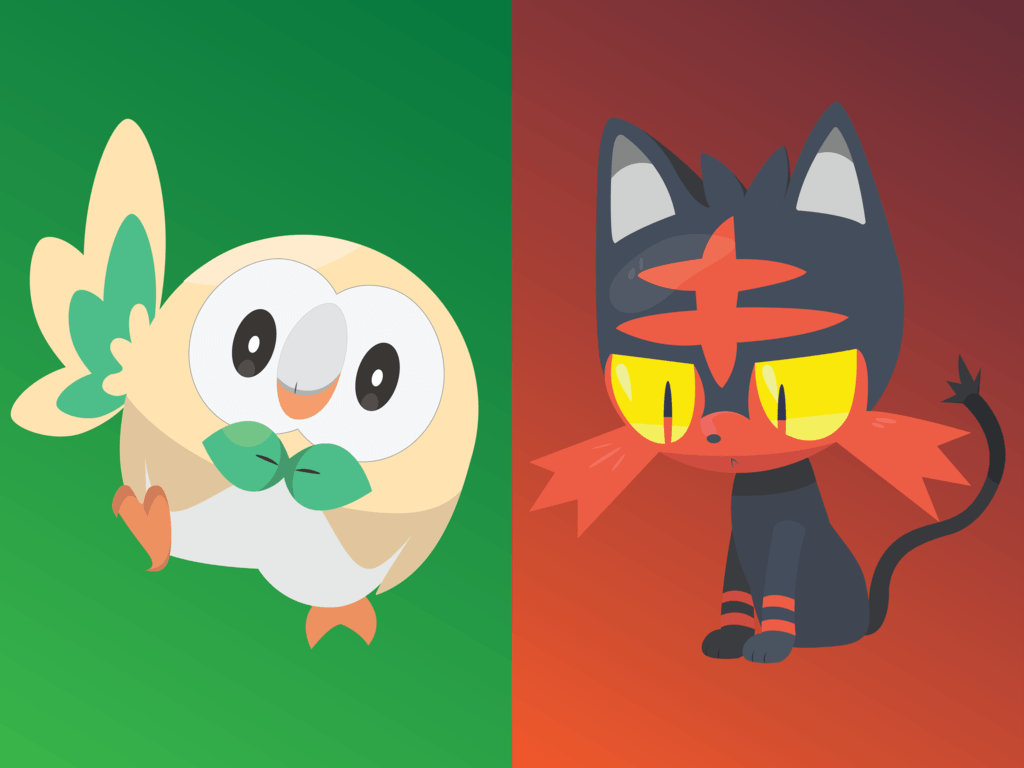 Pokemon Rowlet Litten Popplio Evolutions Images | Pokemon Images