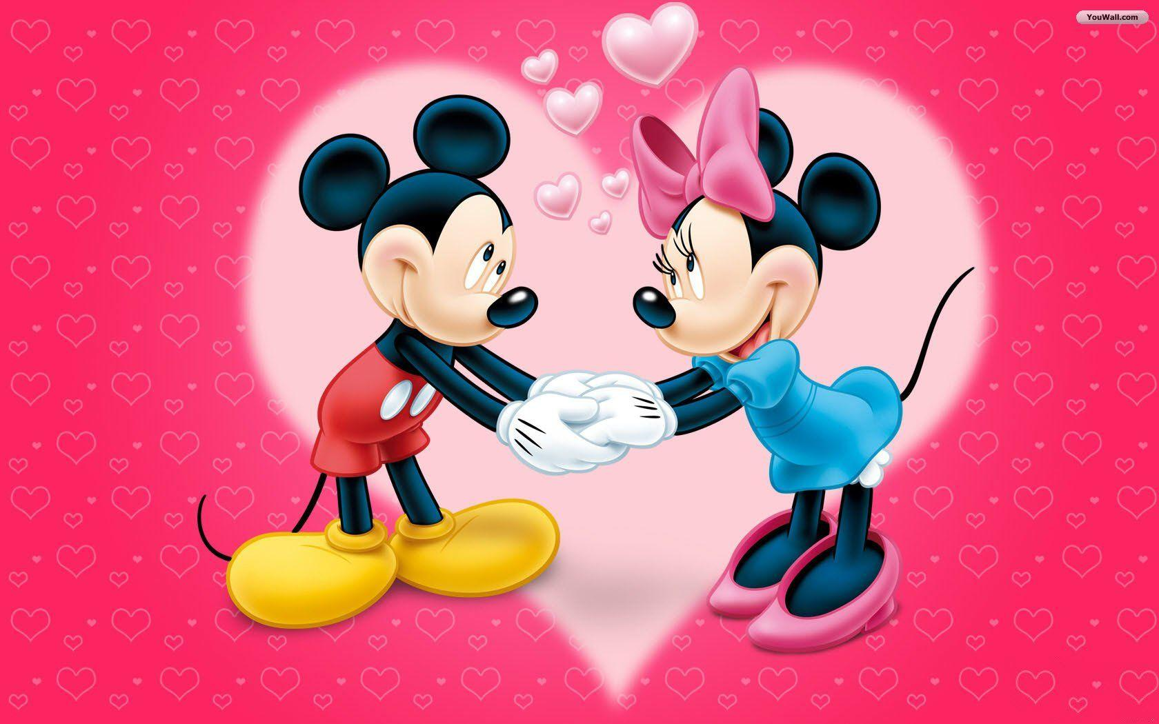Mickey And Minnie Mouse 07991
