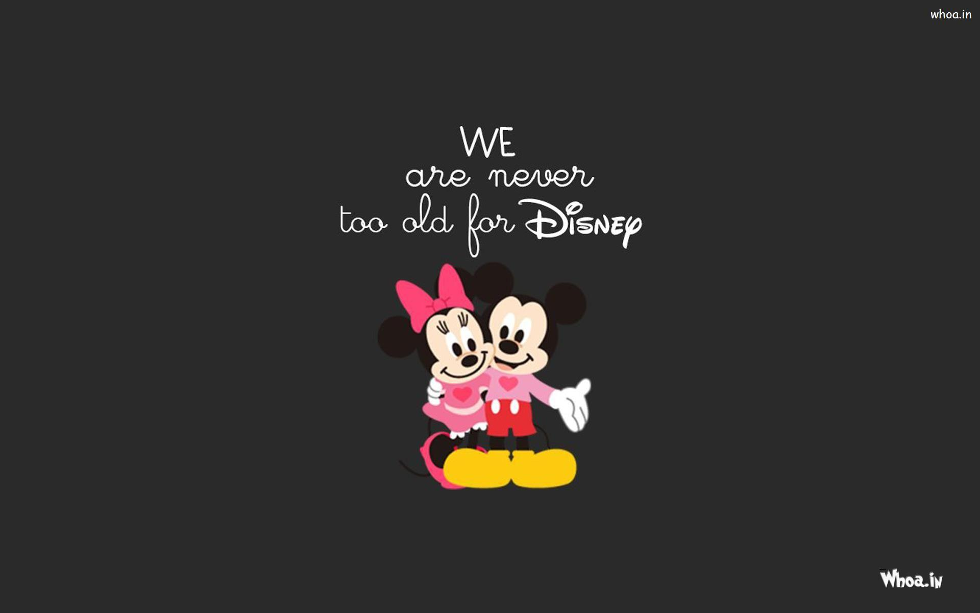 Mickey And Minnie Mouse With Dark Backgrounds HD Wallpapers