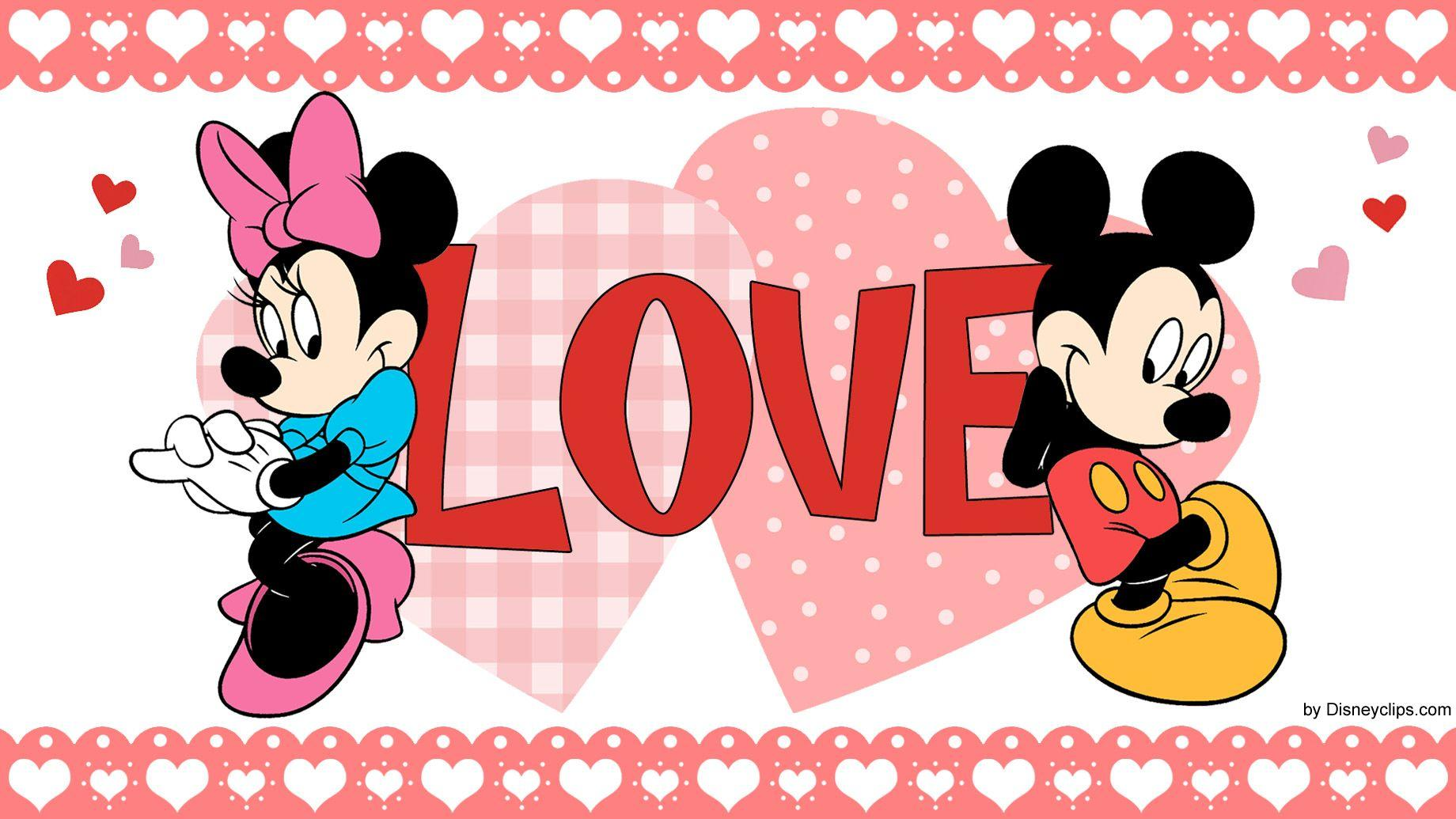Mickey & Minnie Mouse 'Love' Wallpapers