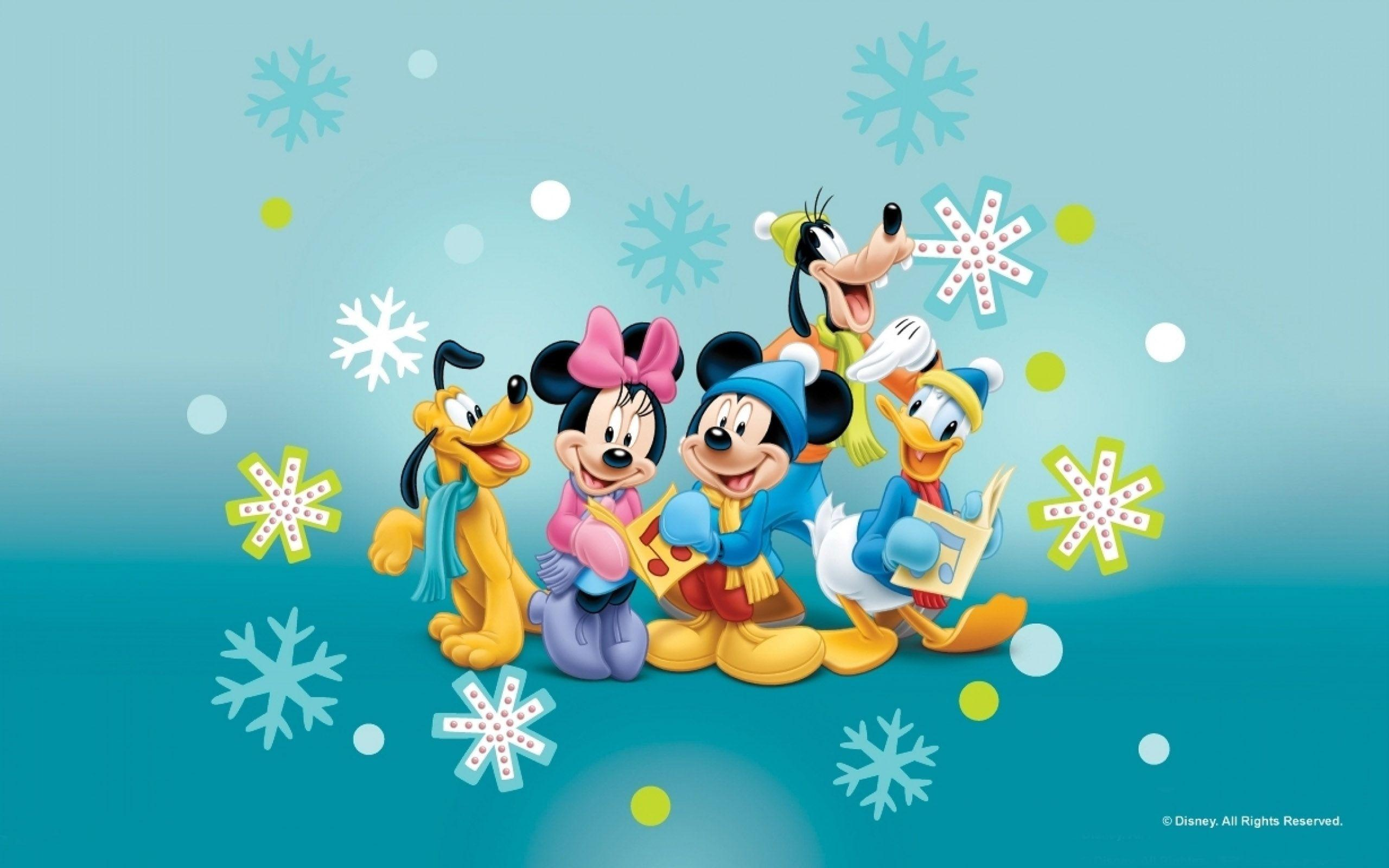 Holiday Along With The Heroes Of Disney Mickey Minnie Donald And