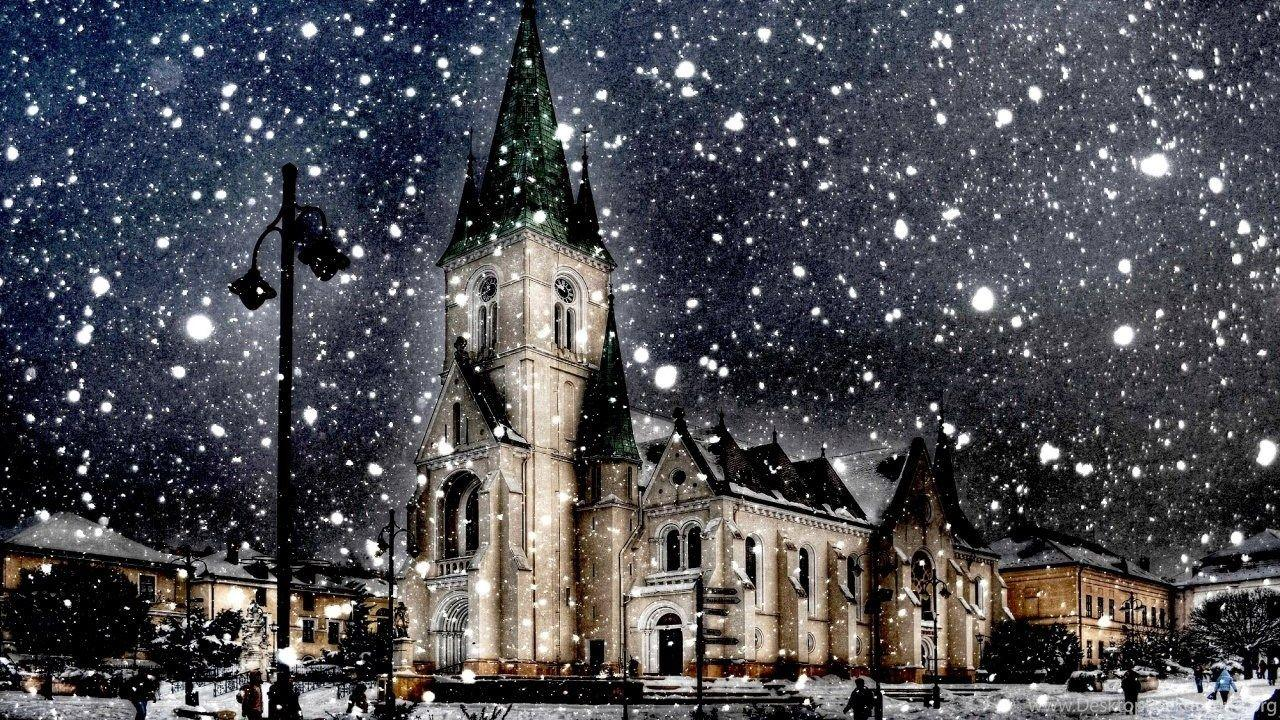 Snow city wallpapers wallpaper cave - Snow night city wallpaper ...