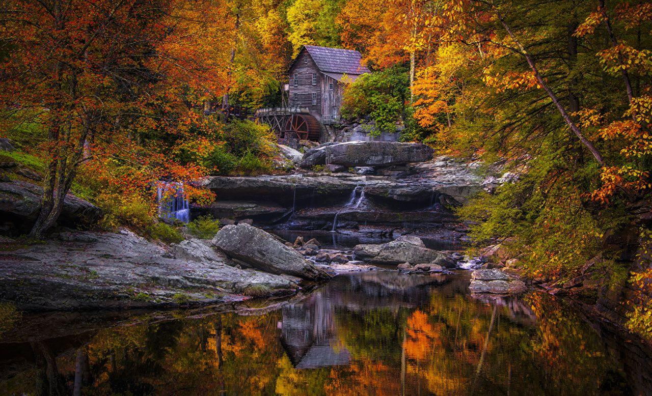 Wallpapers USA Mill Glade Creek Grist Mill, West Virginia Nature