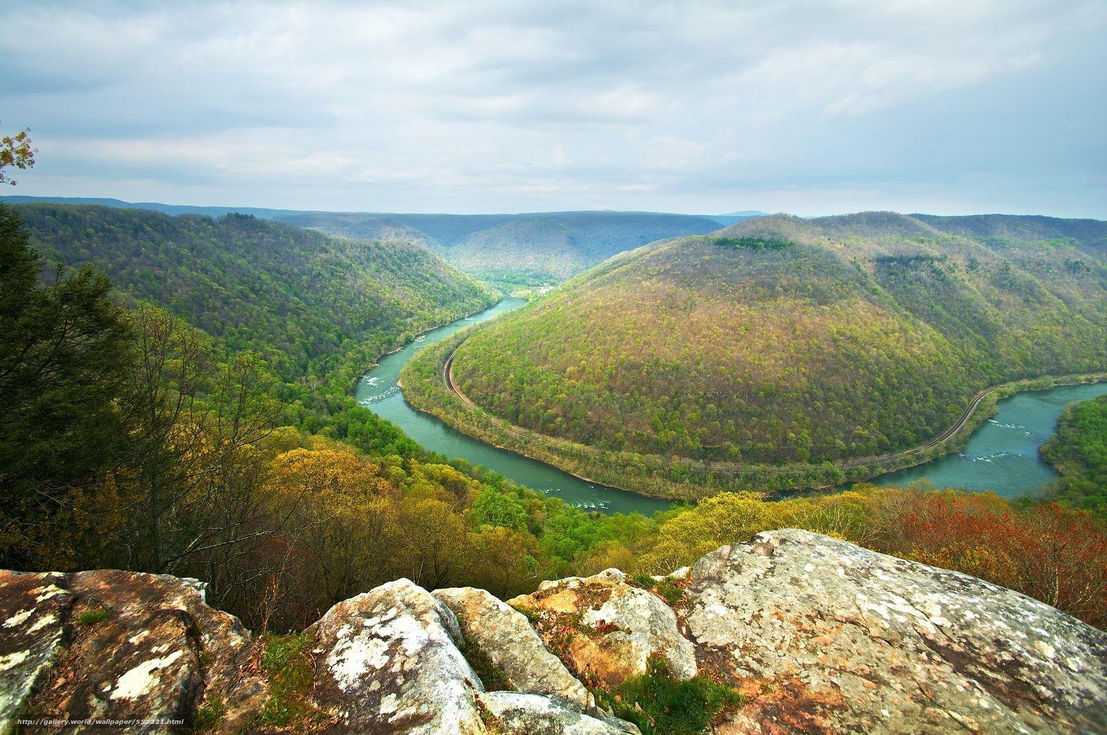 Download wallpapers New River Gorge, Grandview State Park, West