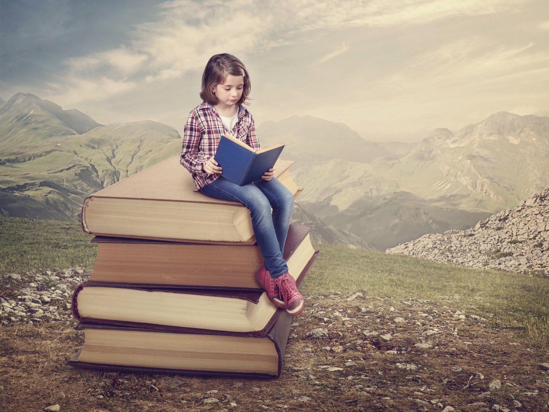 Girls Reading Books Wallpapers