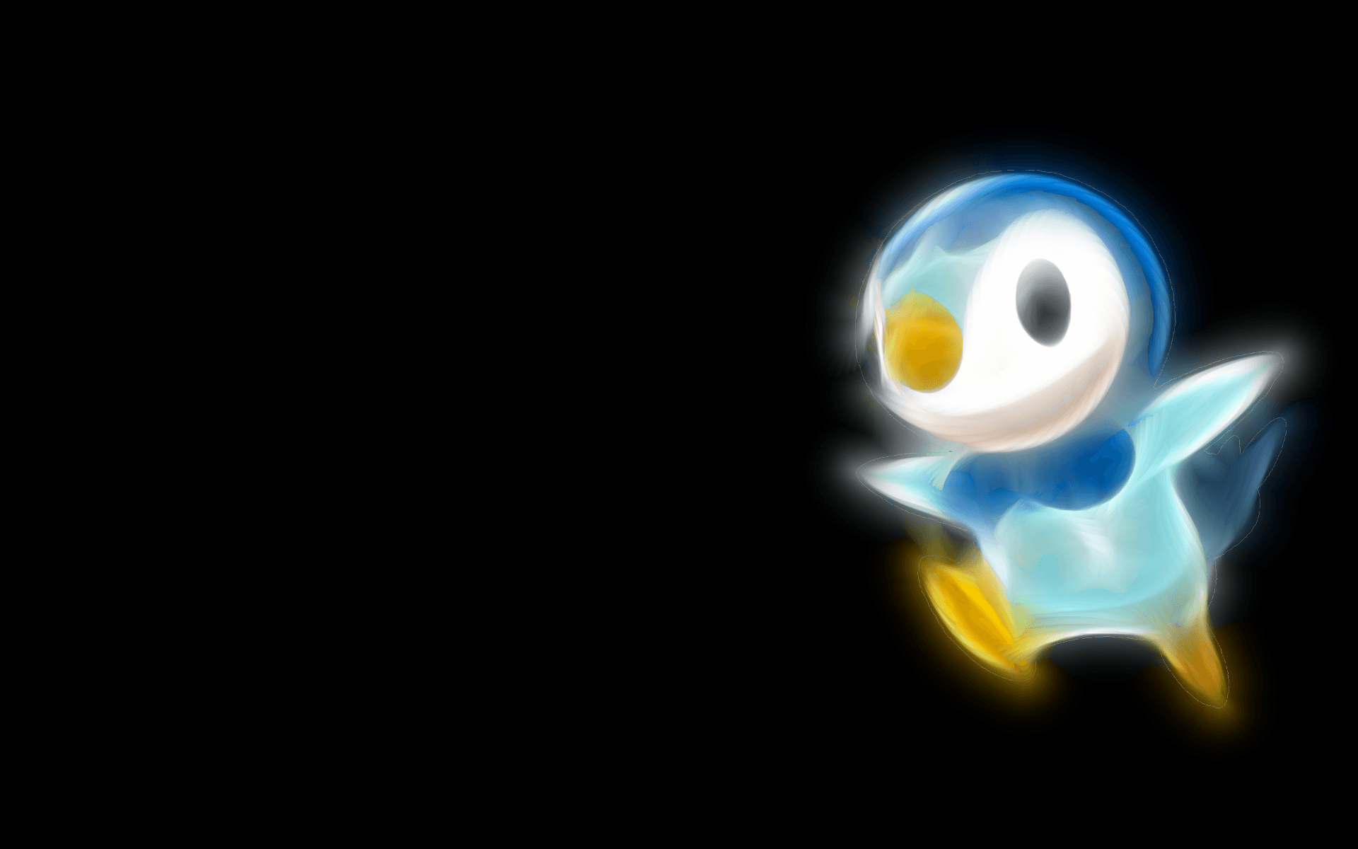 Pokemon, black background, Piplup - Free Wallpaper / WallpaperJam.com