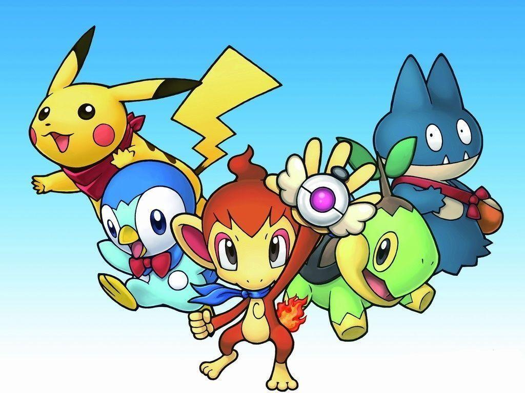 Pikachu, Piplup, Chimchar, Turtwig and Munchlax | Pokemon ...