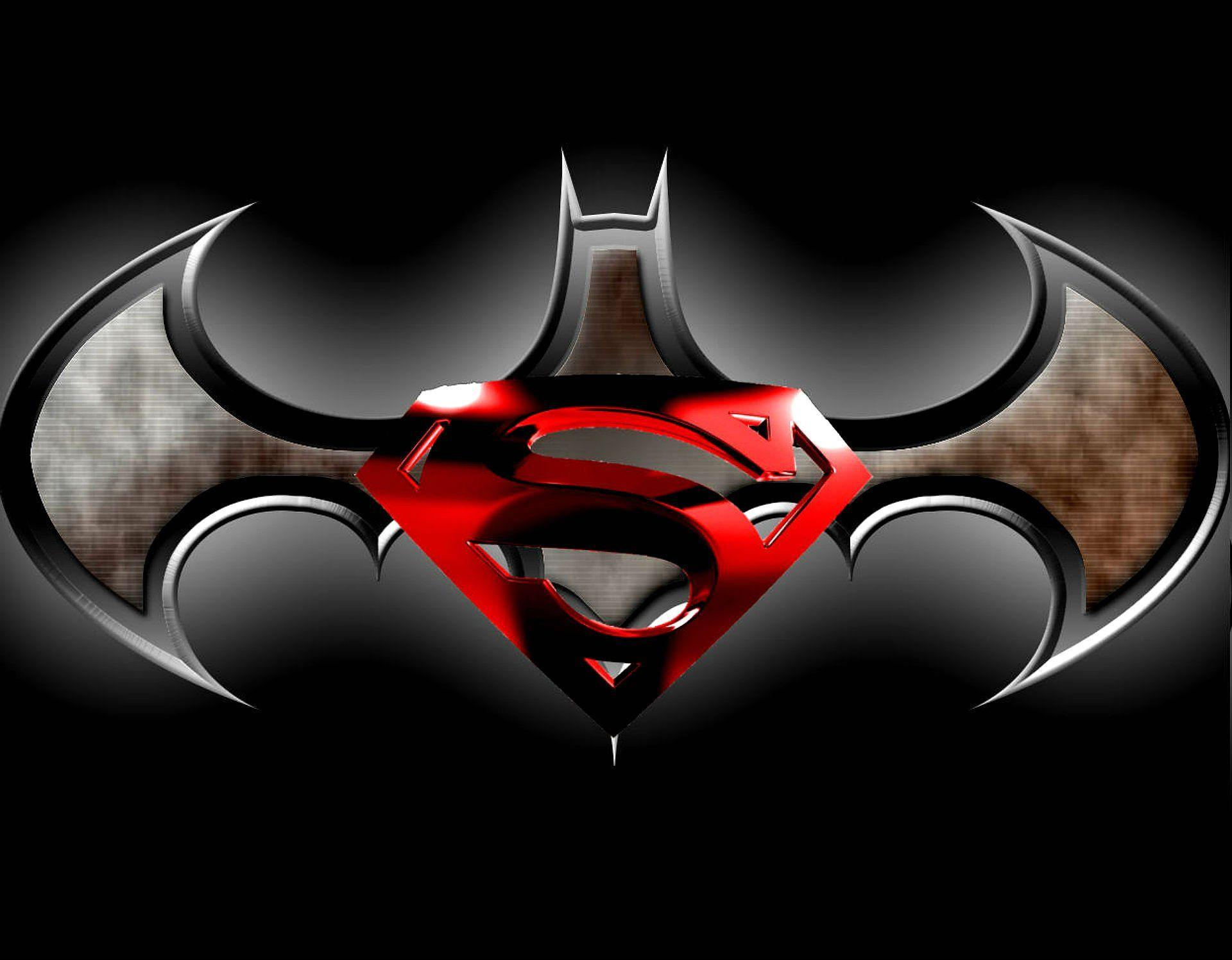 Batman vs superman logo wallpapers wallpaper cave - Superman screensaver ...