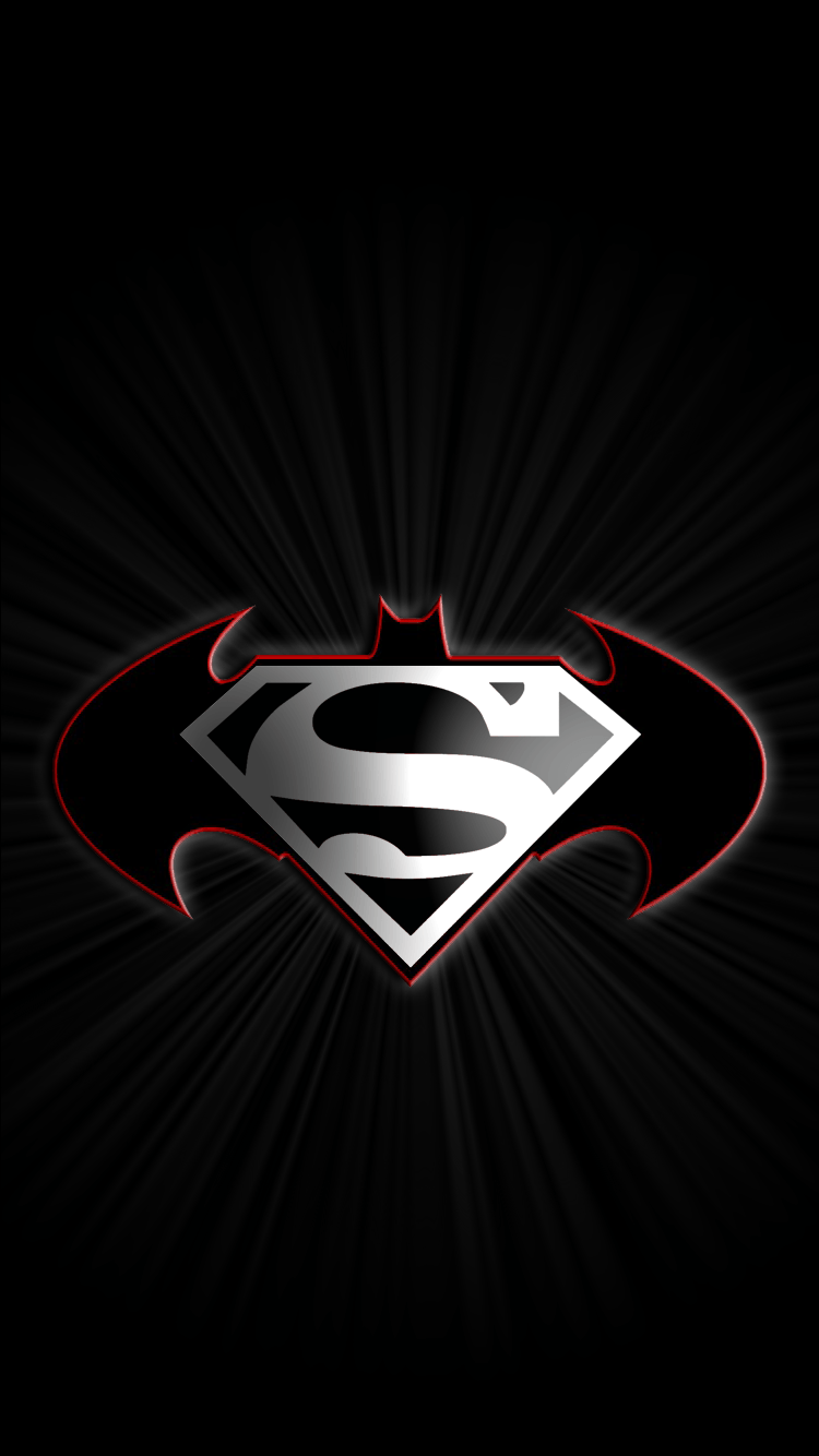 Batman Vs Superman Logo Wallpaper For Iphone