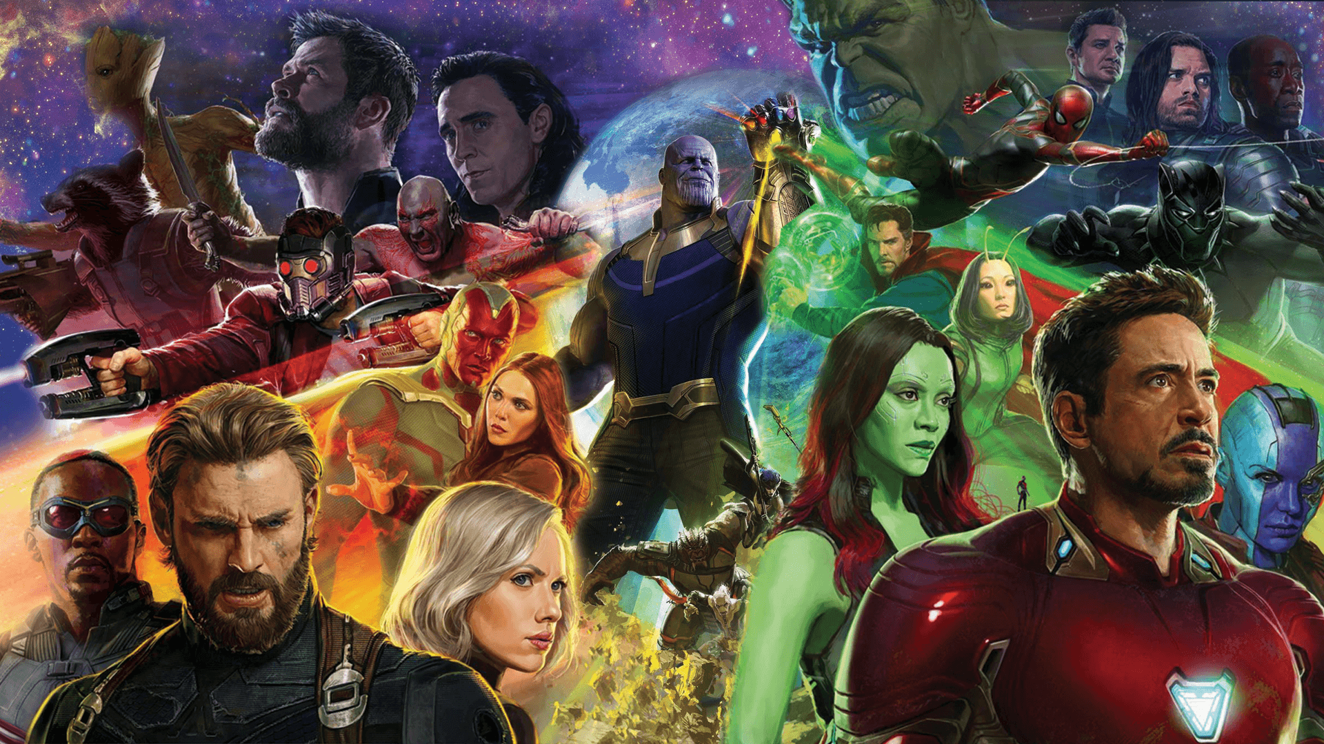 Avengers Infinity War Desktop Wallpaper 1920×1080