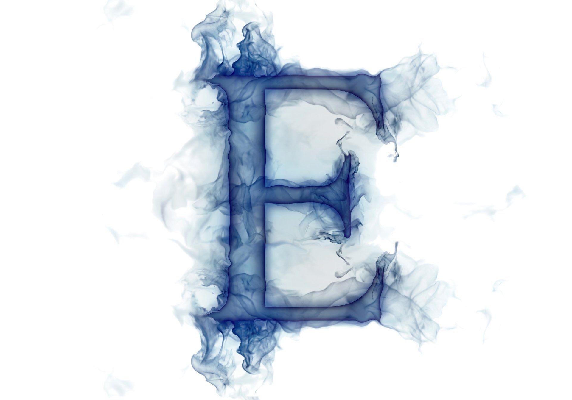 Letter Lit Smoke Gas E HD Wallpaper