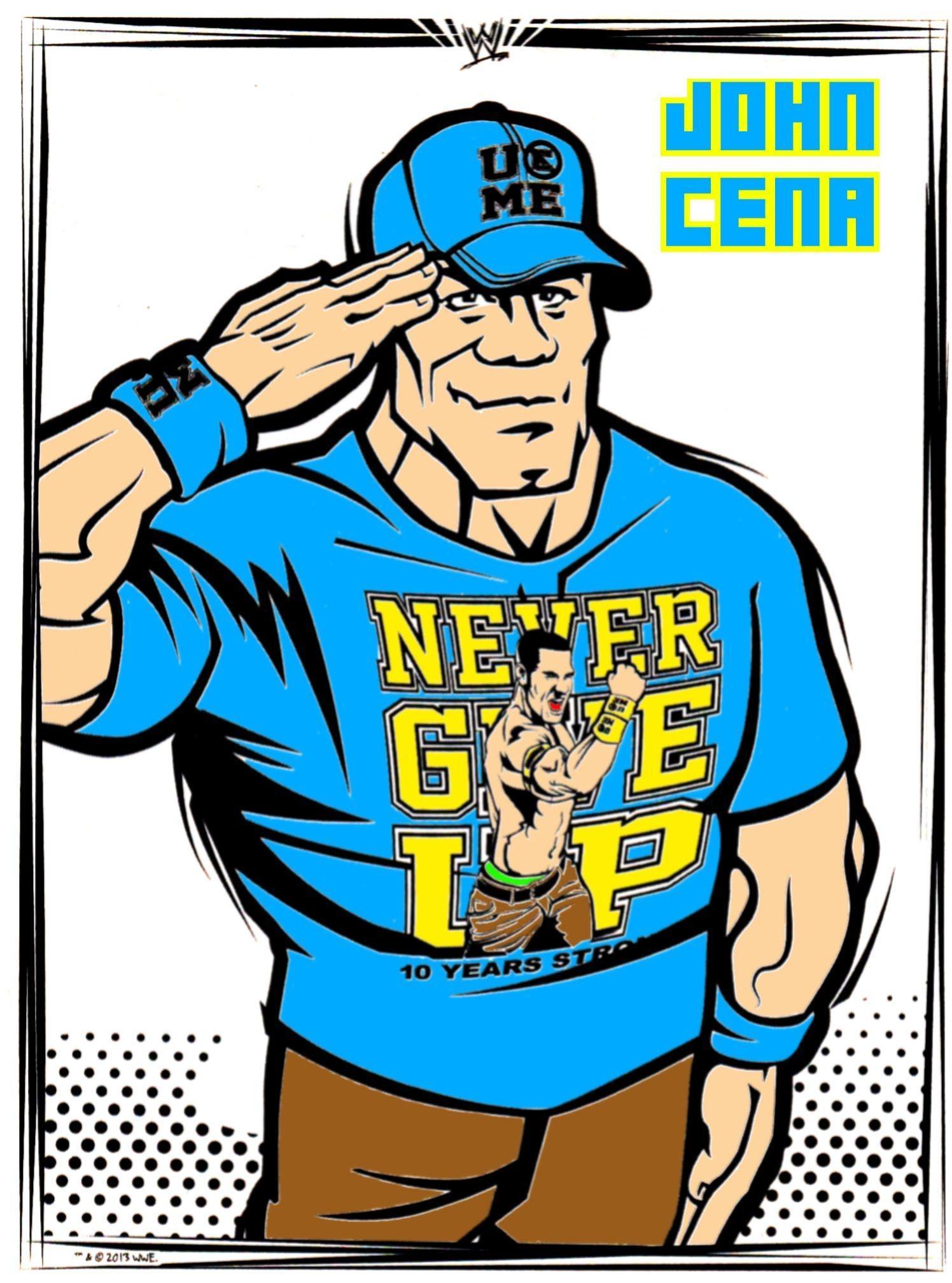 John Cena Cartoon Wallpapers Wallpaper Cave