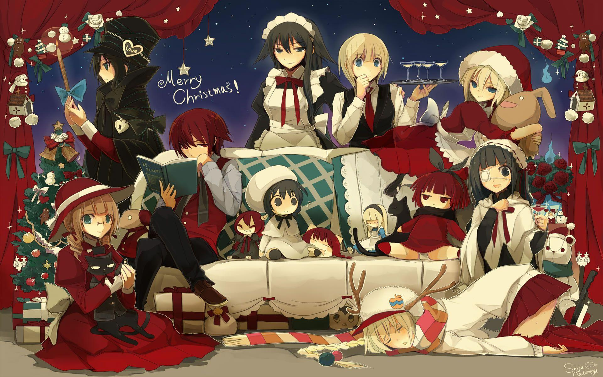 Christmas Anime Wallpapers Wallpaper Cave
