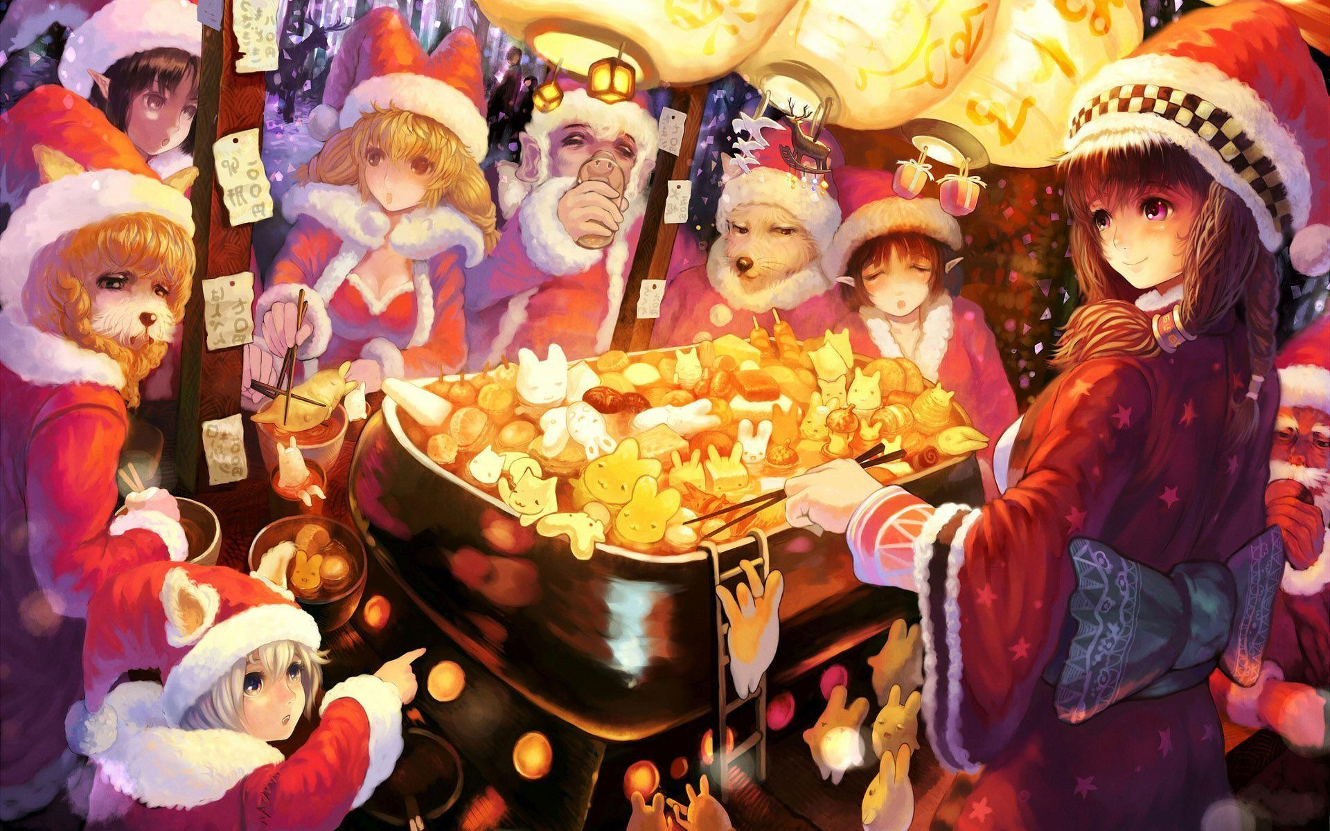 Christmas Anime Wallpapers - Wallpaper Cave