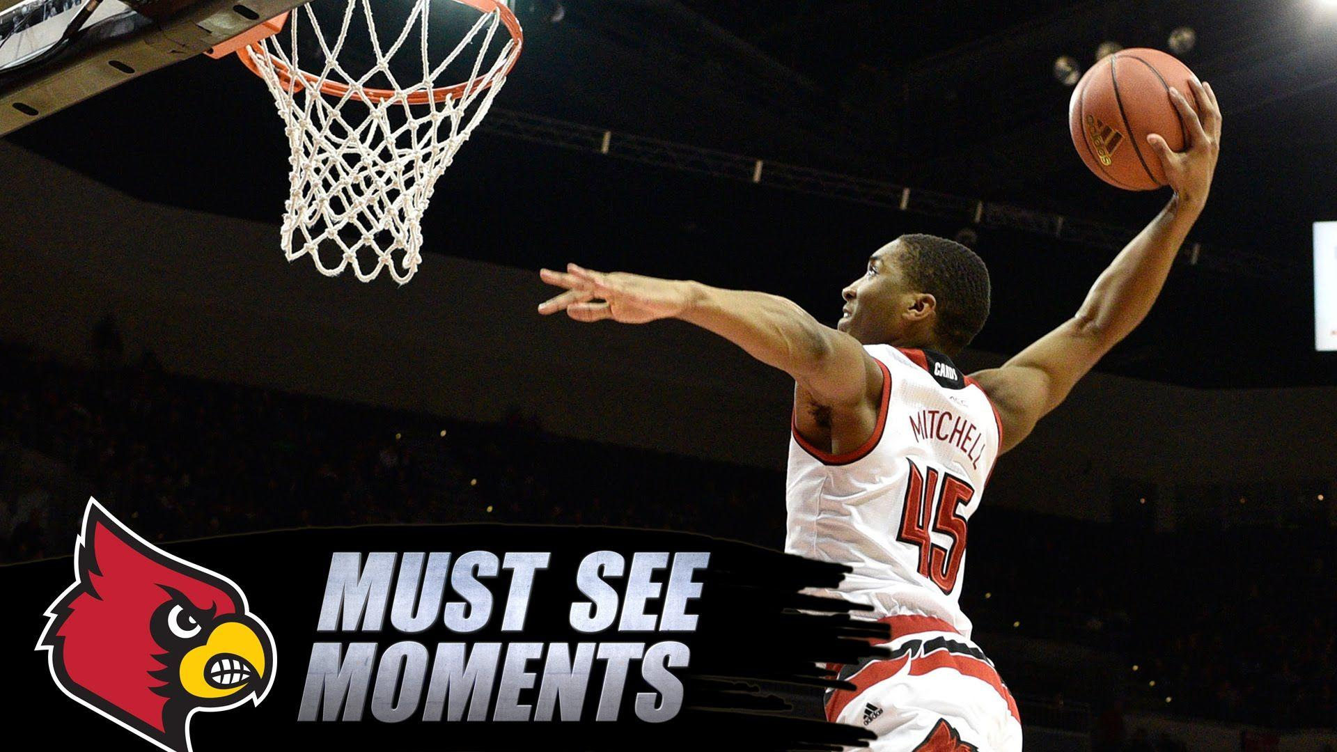Louisville's Donovan Mitchell Winds Up For Huge Alley Oop Dunk