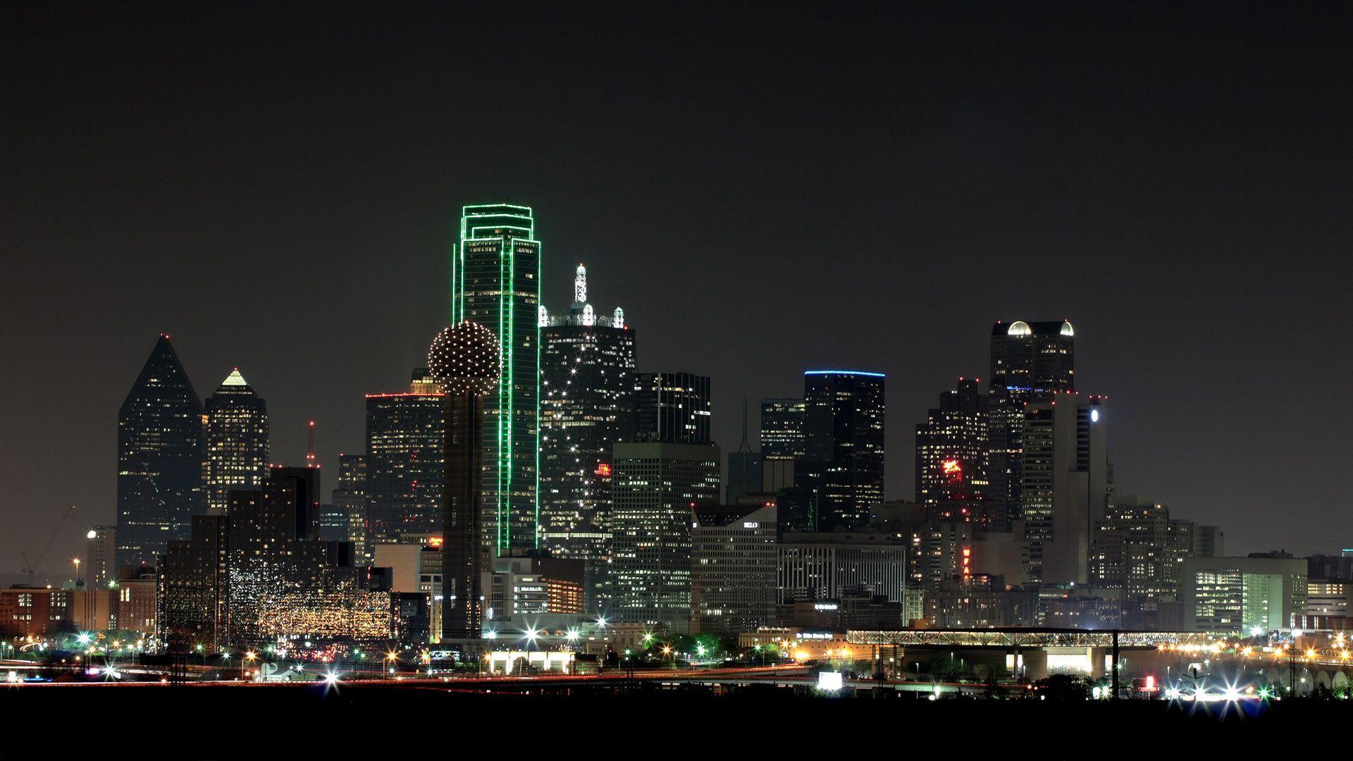 Dallas Skyline Wallpapers Wallpaper Cave