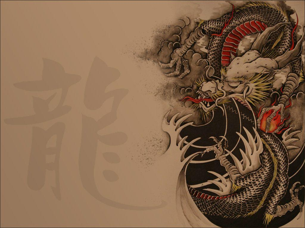 Wide HDQ 3D Chinese Dragon Wallpapers