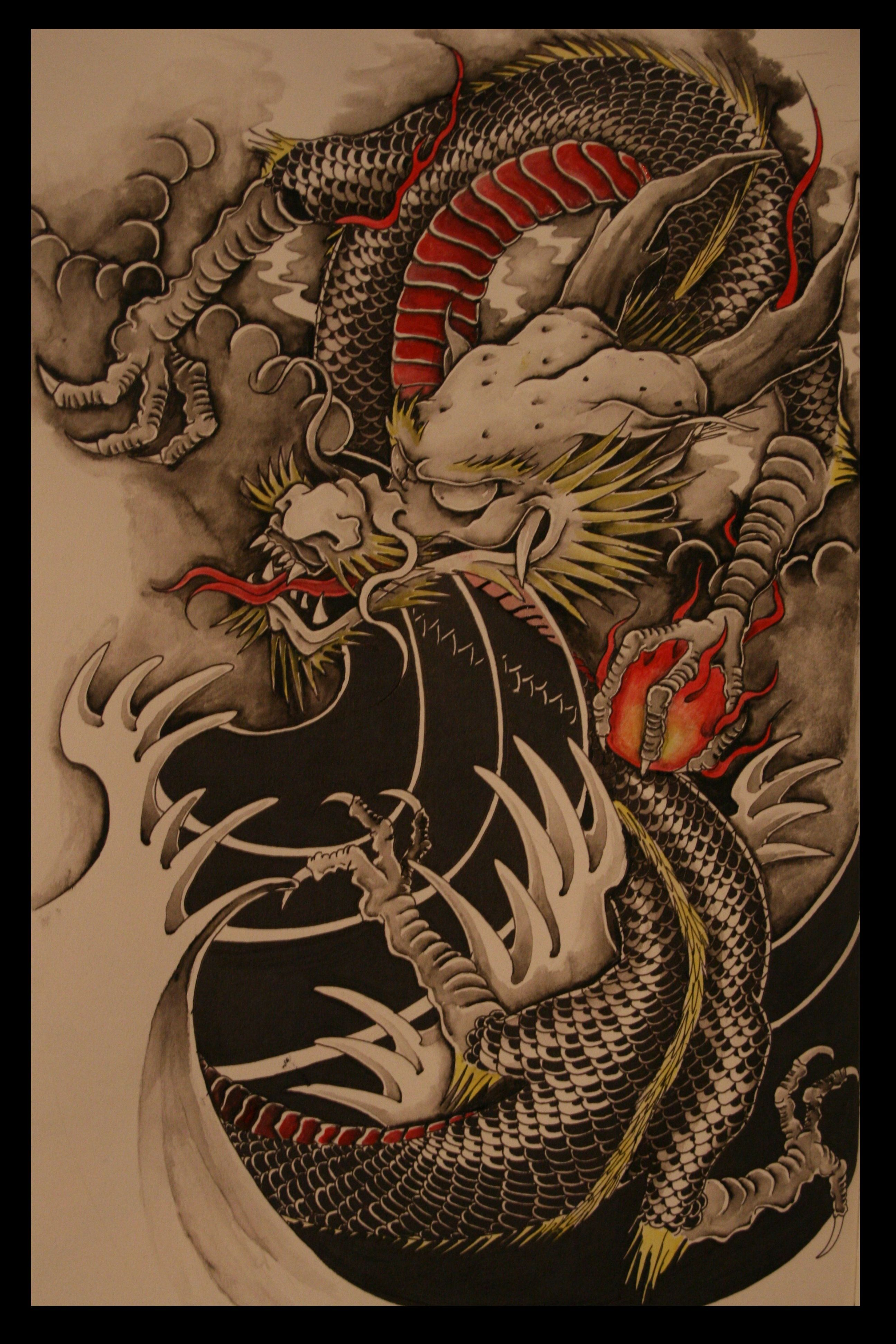 Japanese Dragon Tattoo Wallpapers Wallpaper Cave