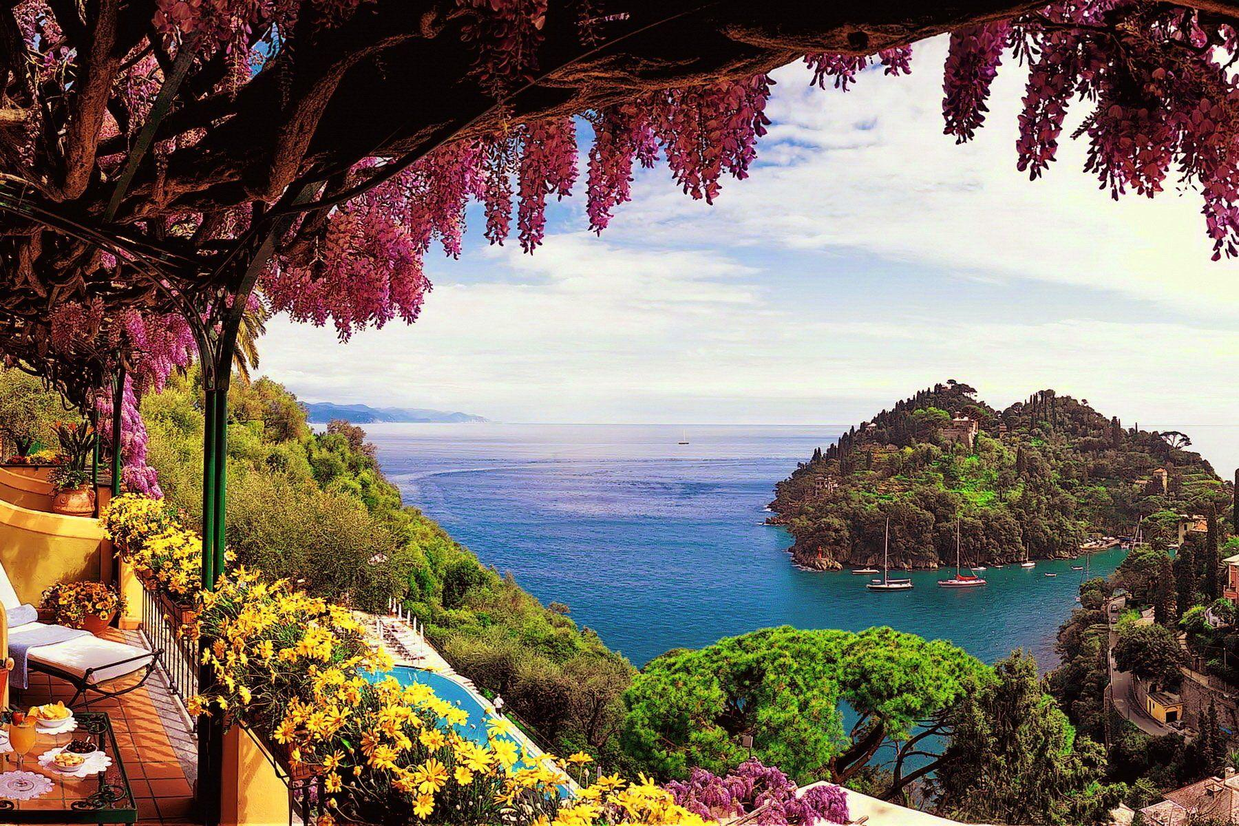 View From Amalfi Coast in Italy Wallpapers and Backgrounds