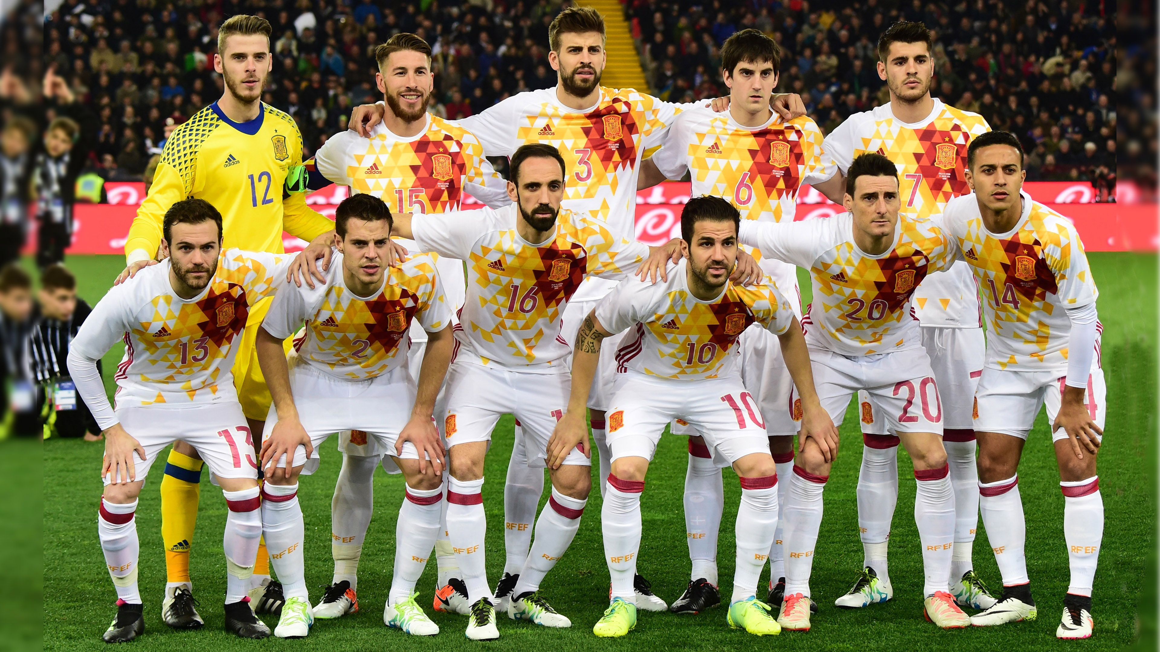 6100708af Spain Football Team 2016 with Second Jersey | HD Wallpapers .