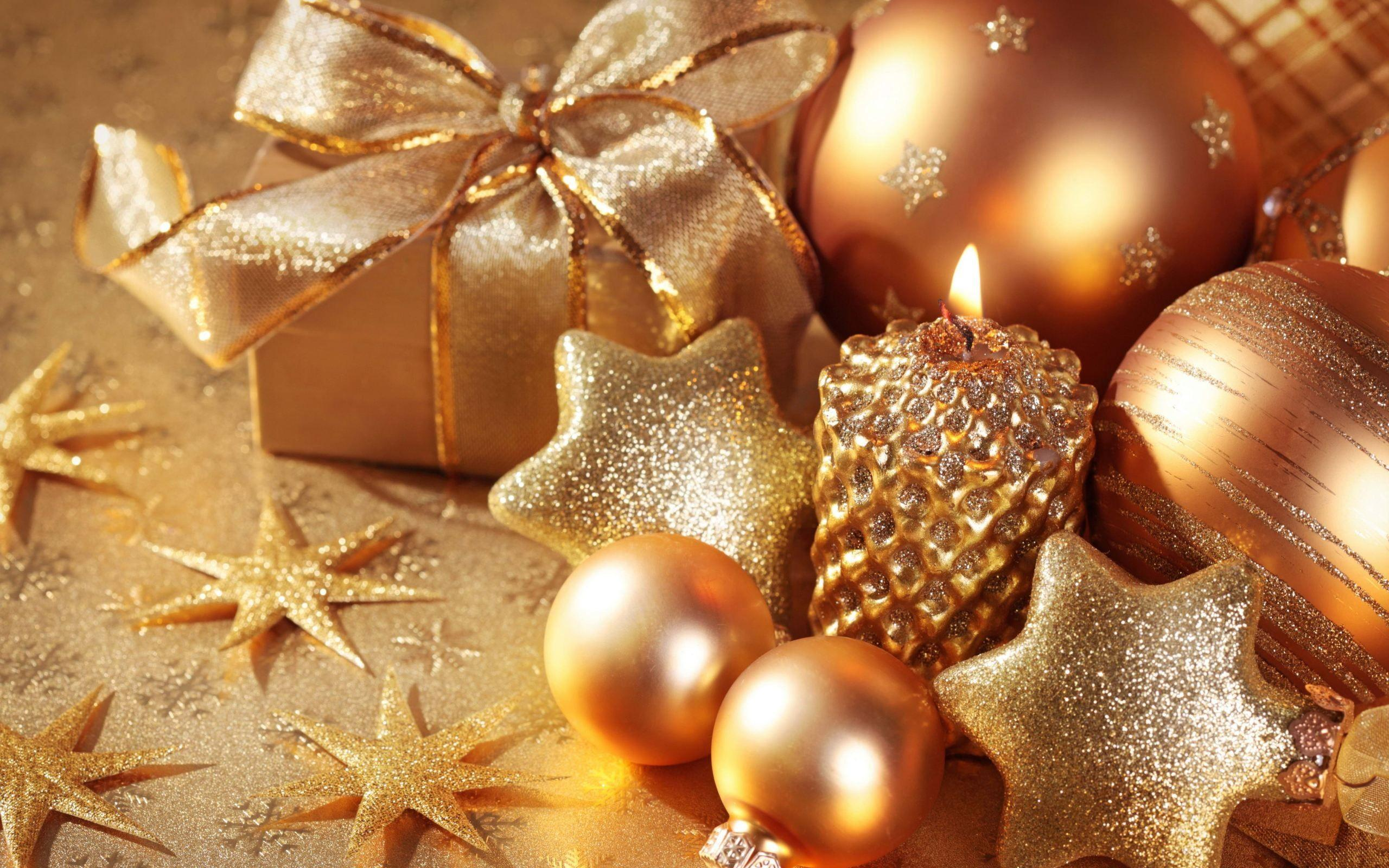 Gold xmas decoration wallpapers