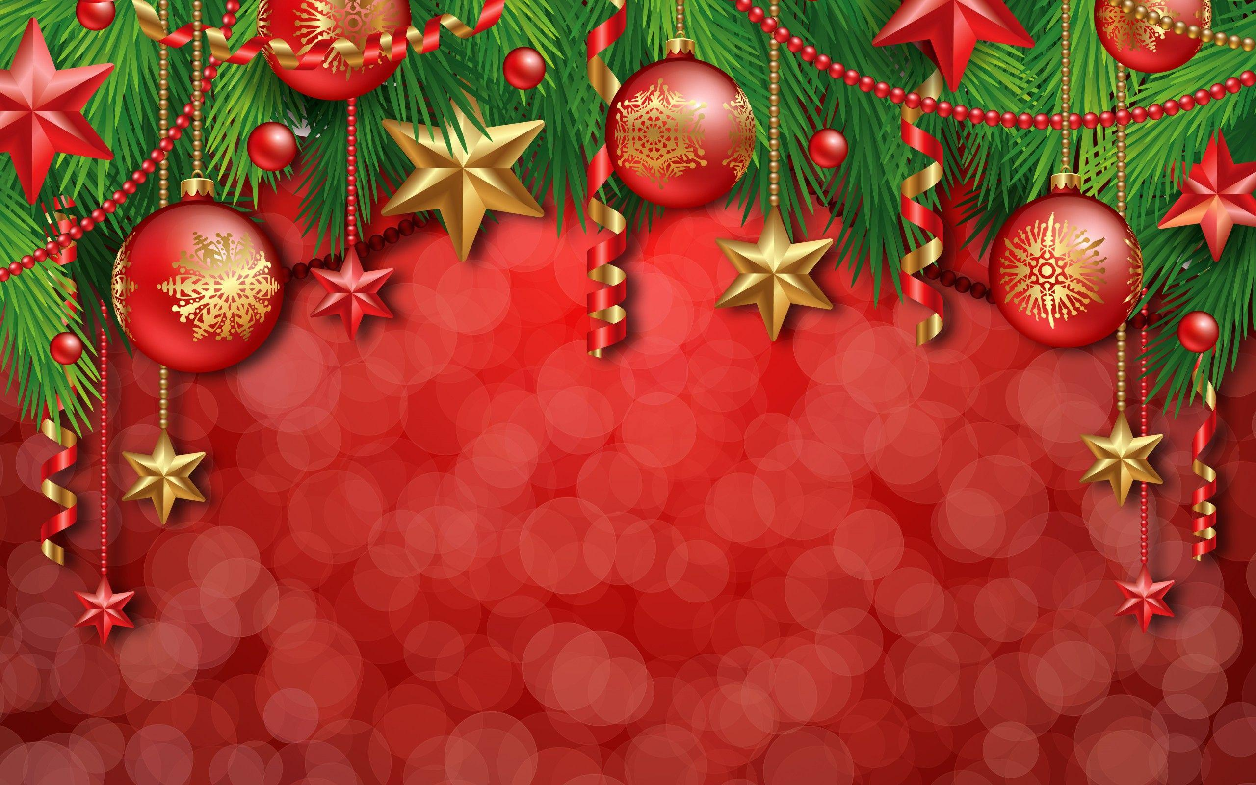 Christmas Decorations Illustration Desktop Wallpapers