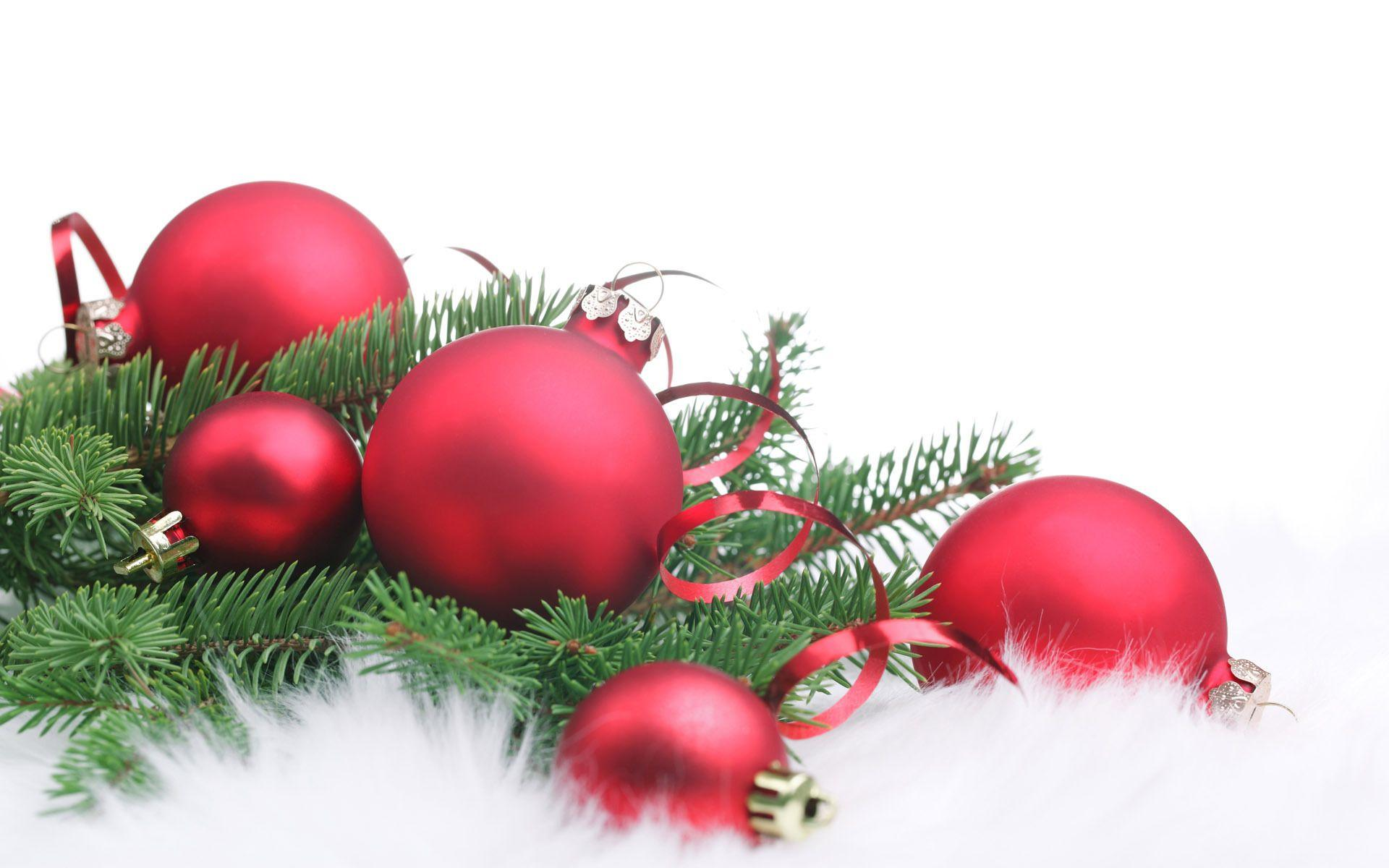 Red Christmas Decorations Christmas HD Wallpapers