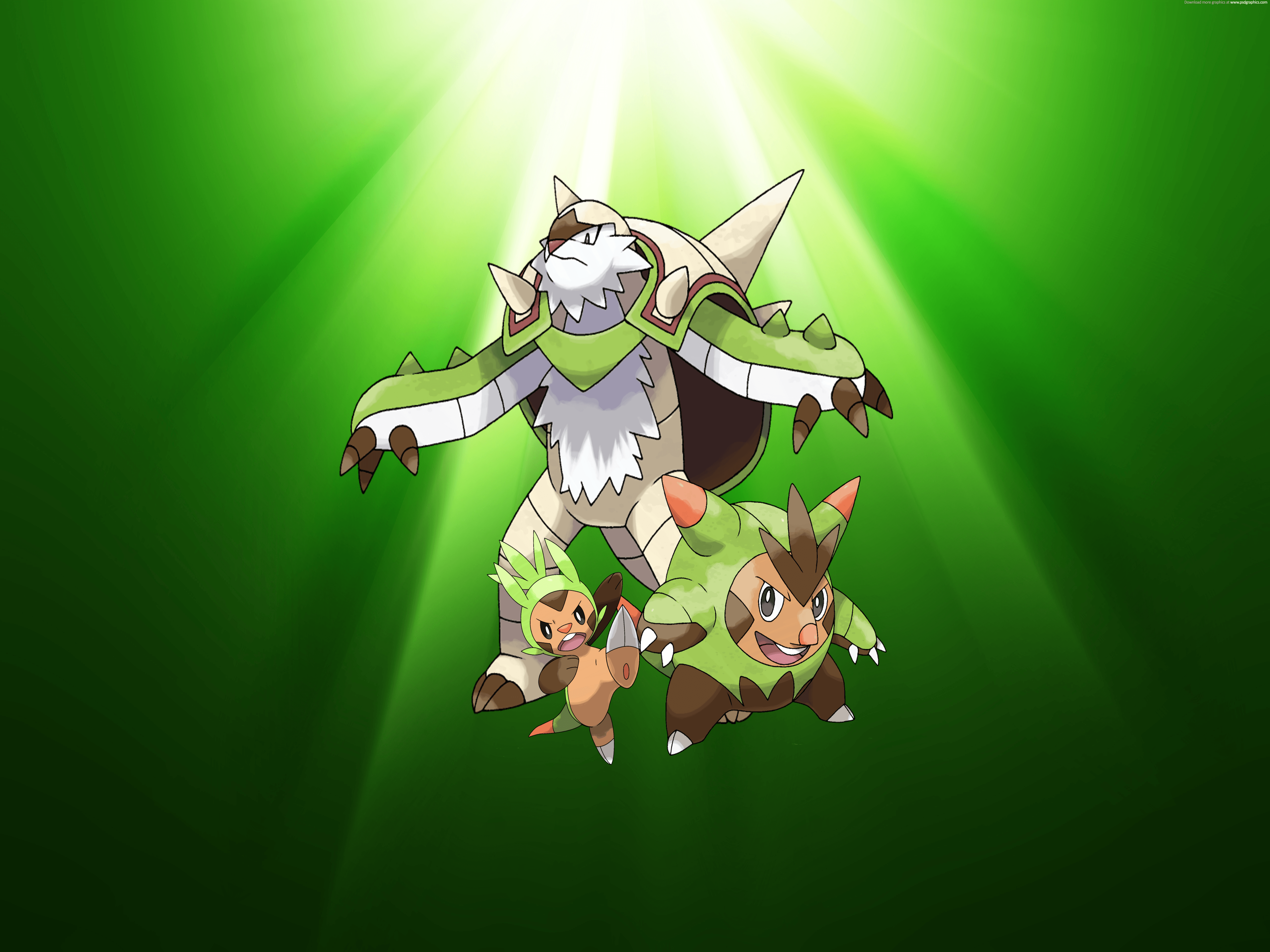 Chespin Evolution wallpaper by XxNinja-PikachaoxX on DeviantArt
