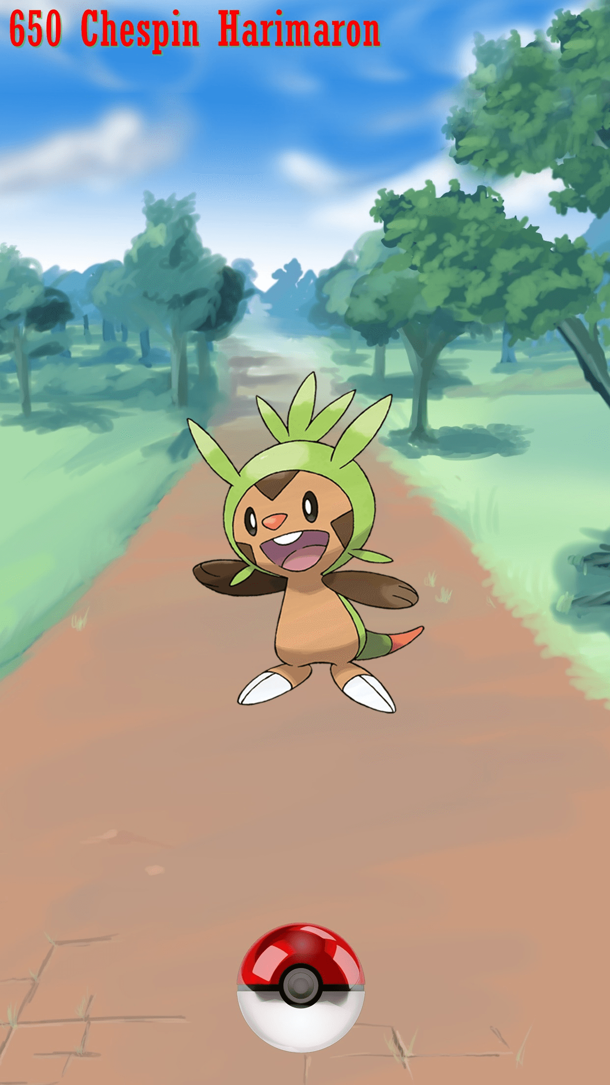 650 Street Pokeball Chespin Harimaron | Wallpaper