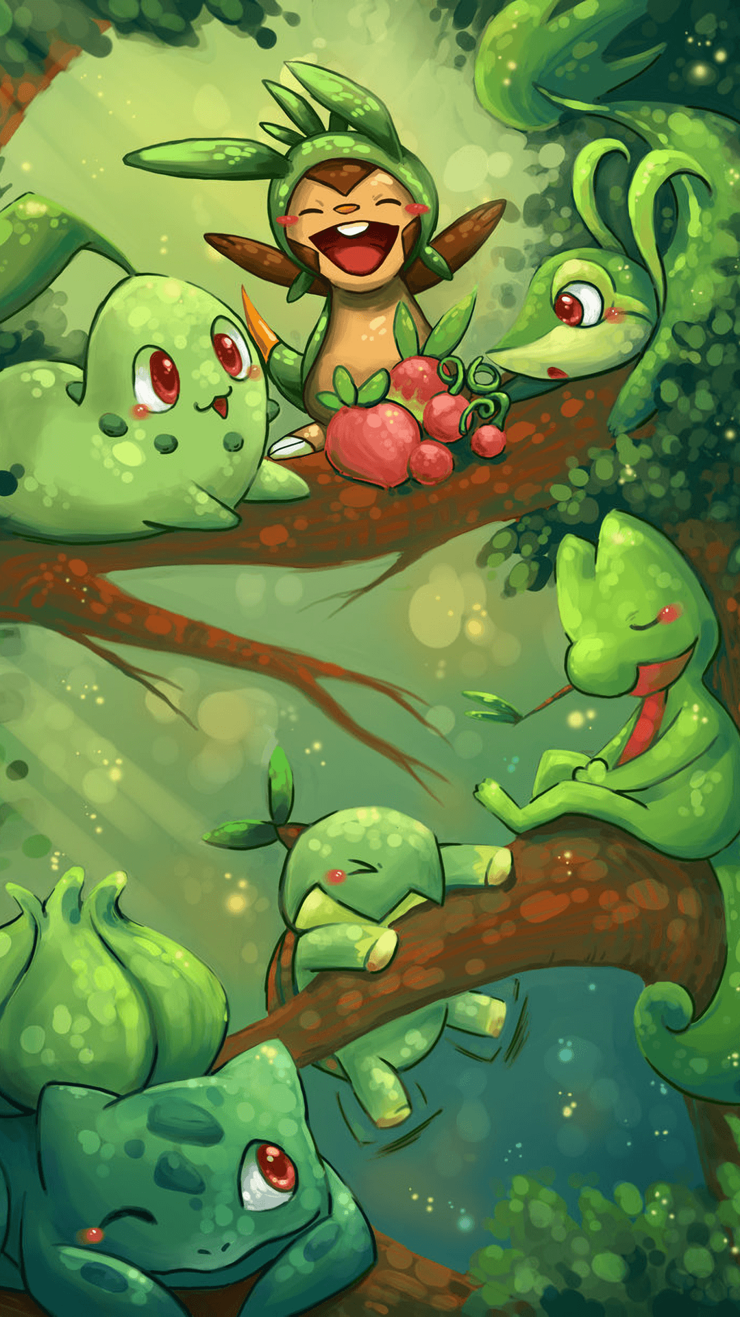1080x1920] Grass [Pokemon] : AnimePhoneWallpapers