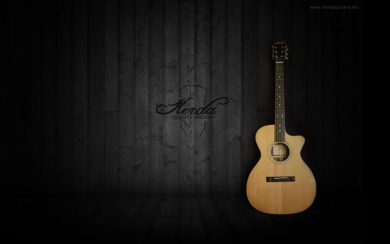 Black Acoustic Guitar Wallpaper Collection 57