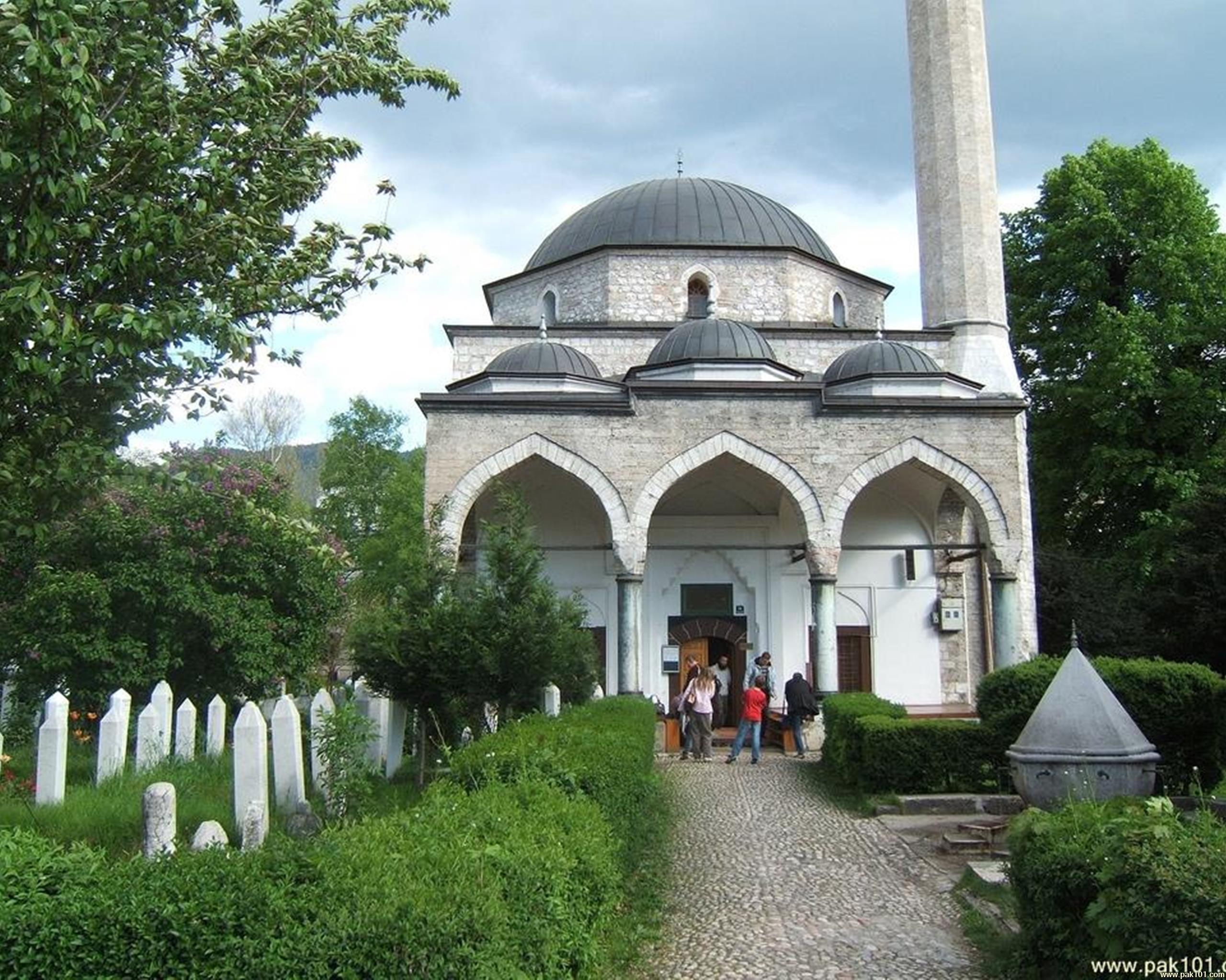Wallpapers > Islamic > Ali Pasha Mosque in Sarajevo - Bosnia and ...