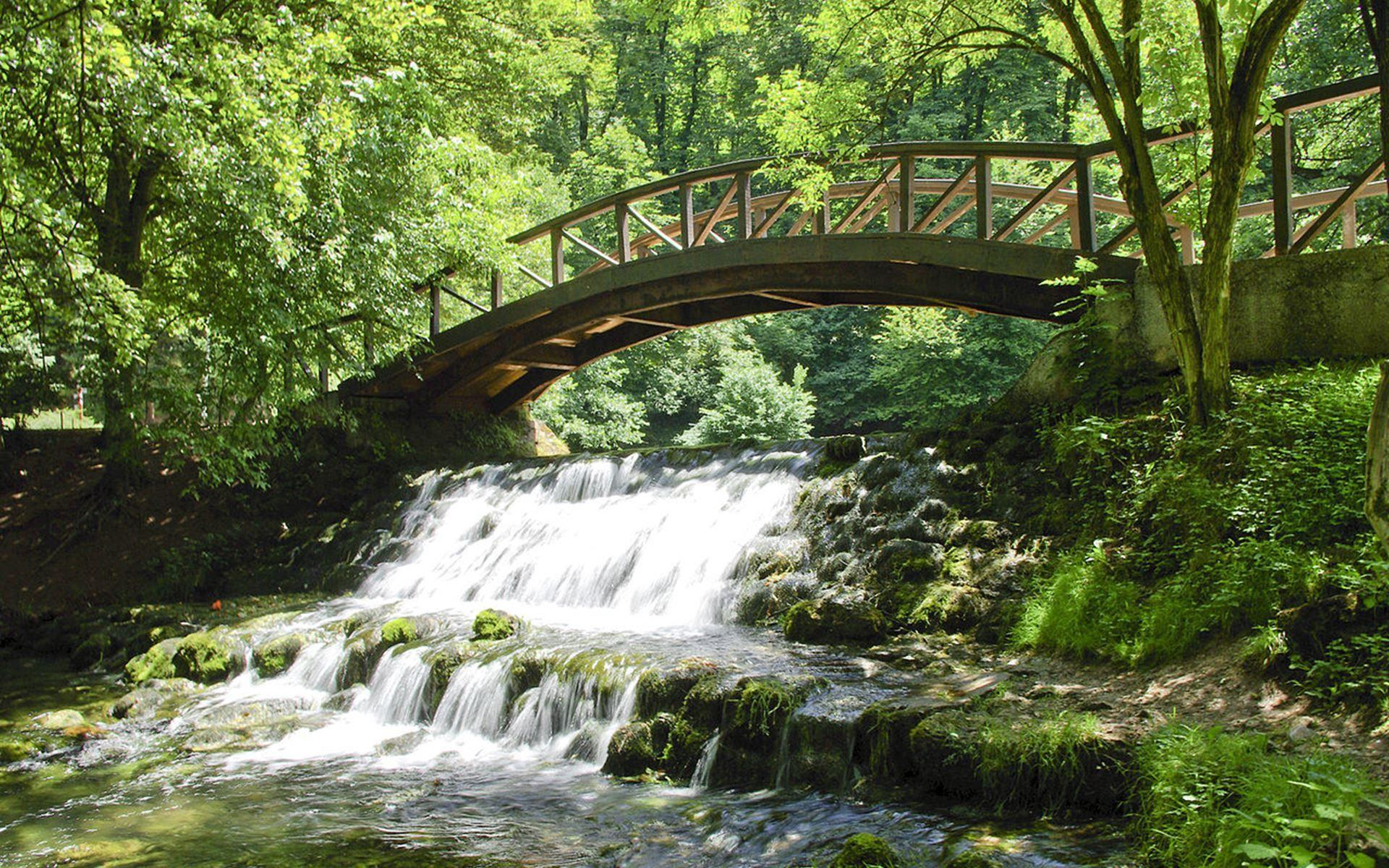 Bridge And Waterfall View In Sarajevo Wallpaper – Wallpapers Pick