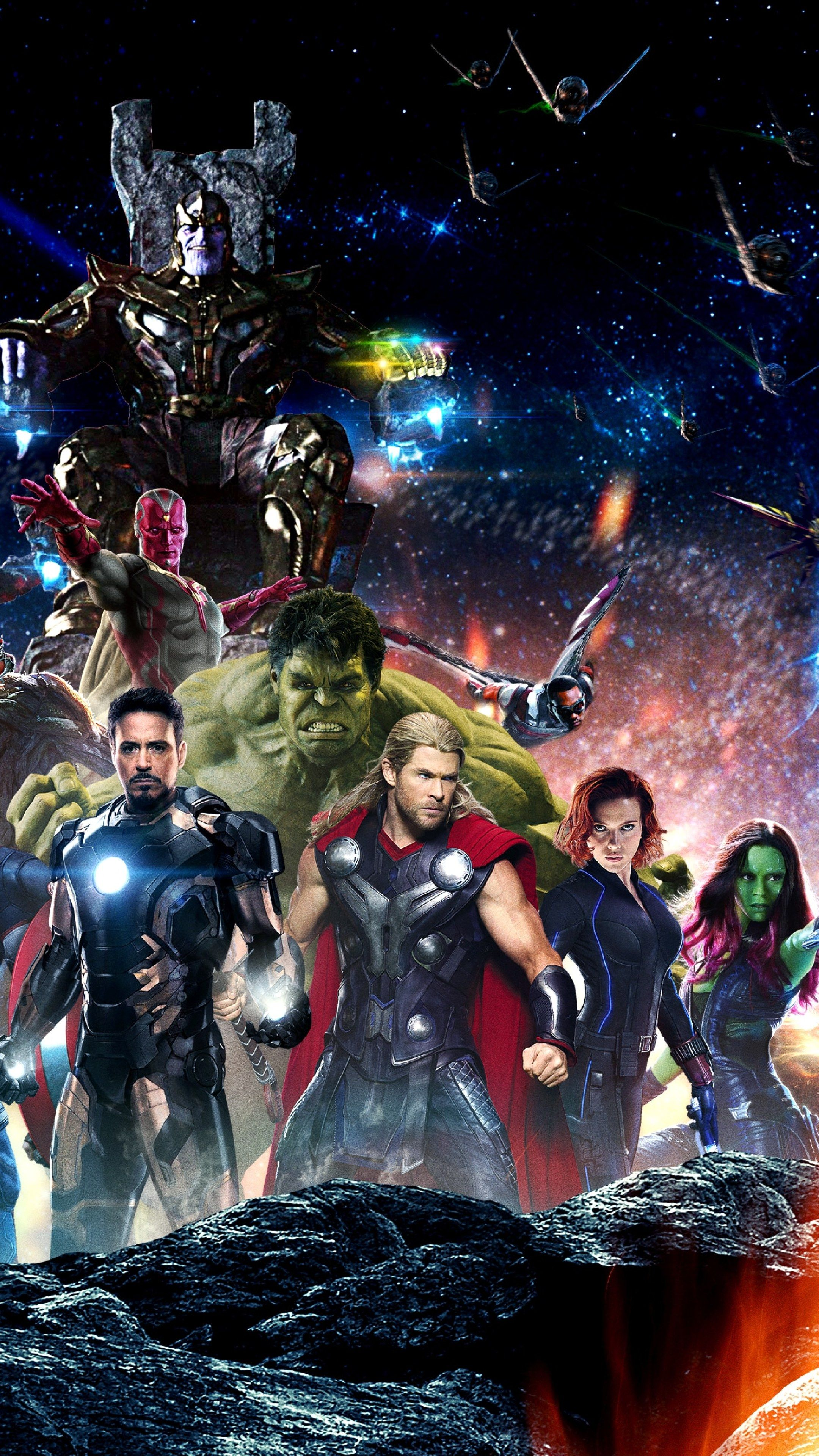 Download Avengers Infinity War All Superhero Characters 2160x3840 ...