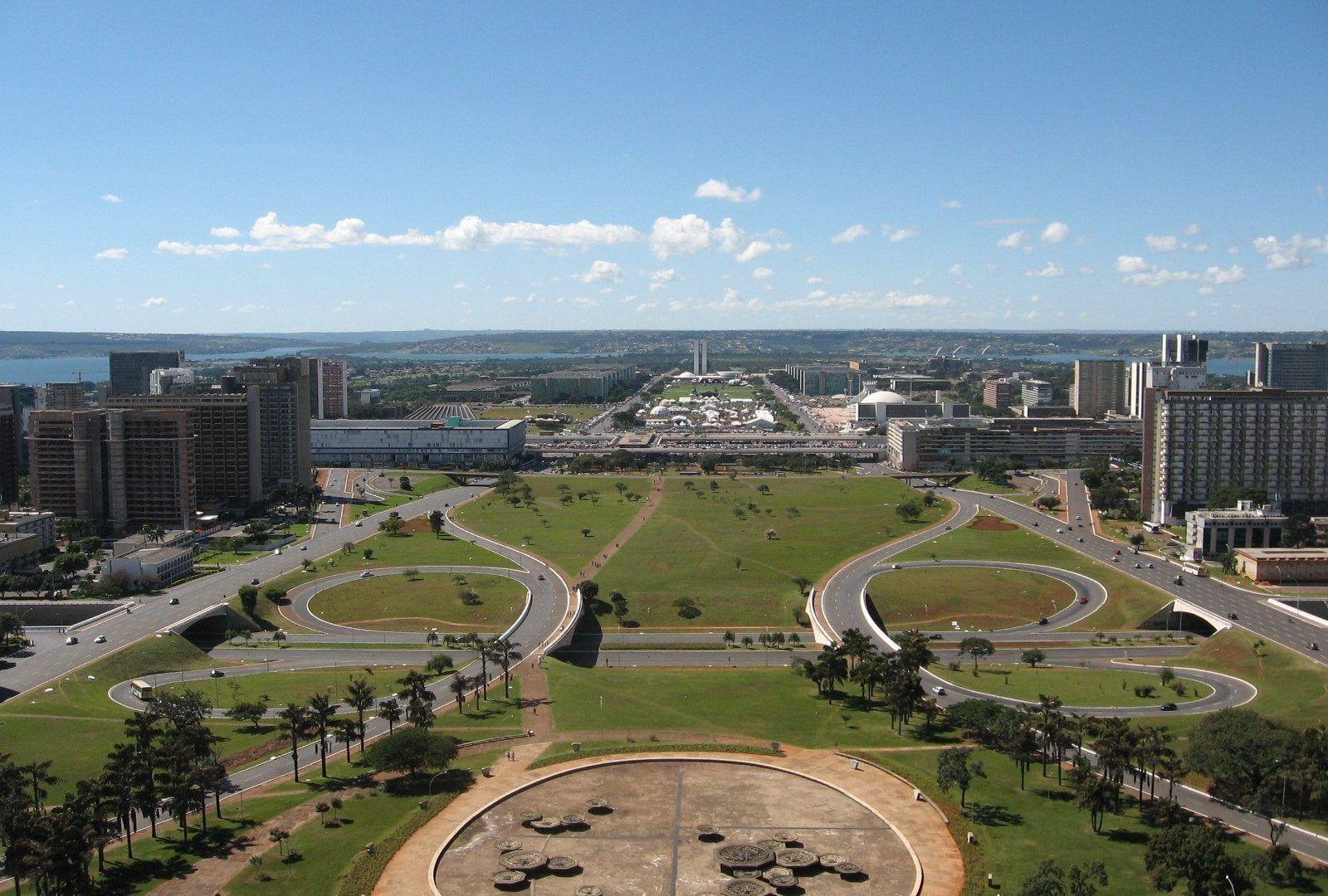 Modern Brasilia Abril Landscape National Congress Phone Wallpapers