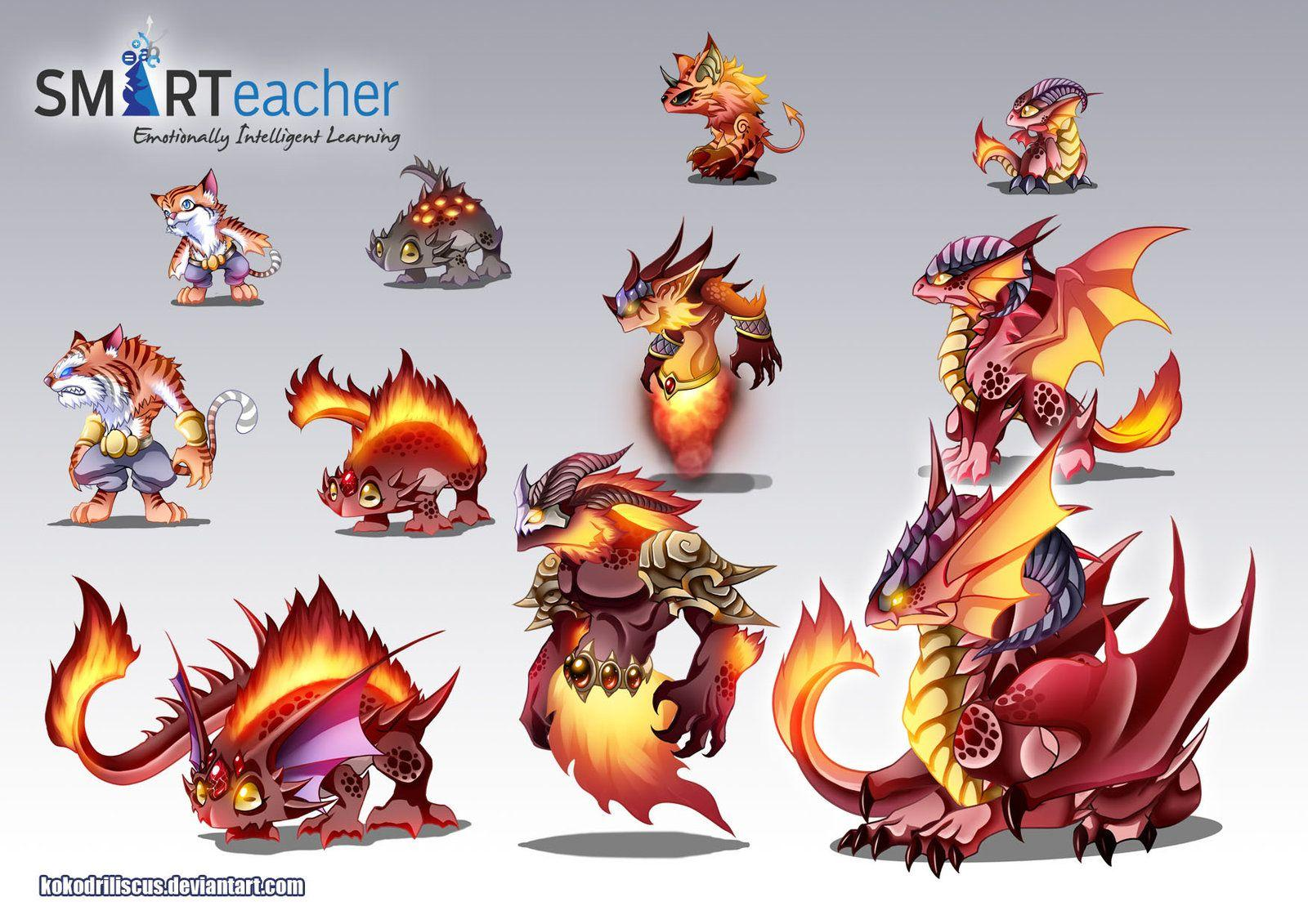 Prodigy Fire Monsters by *kokodriliscus on deviantART | Creature ...