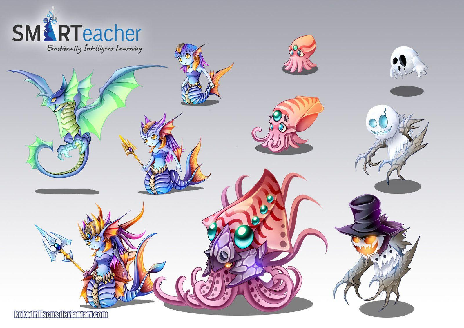 Prodigy Water Monsters by Dragolisco on DeviantArt