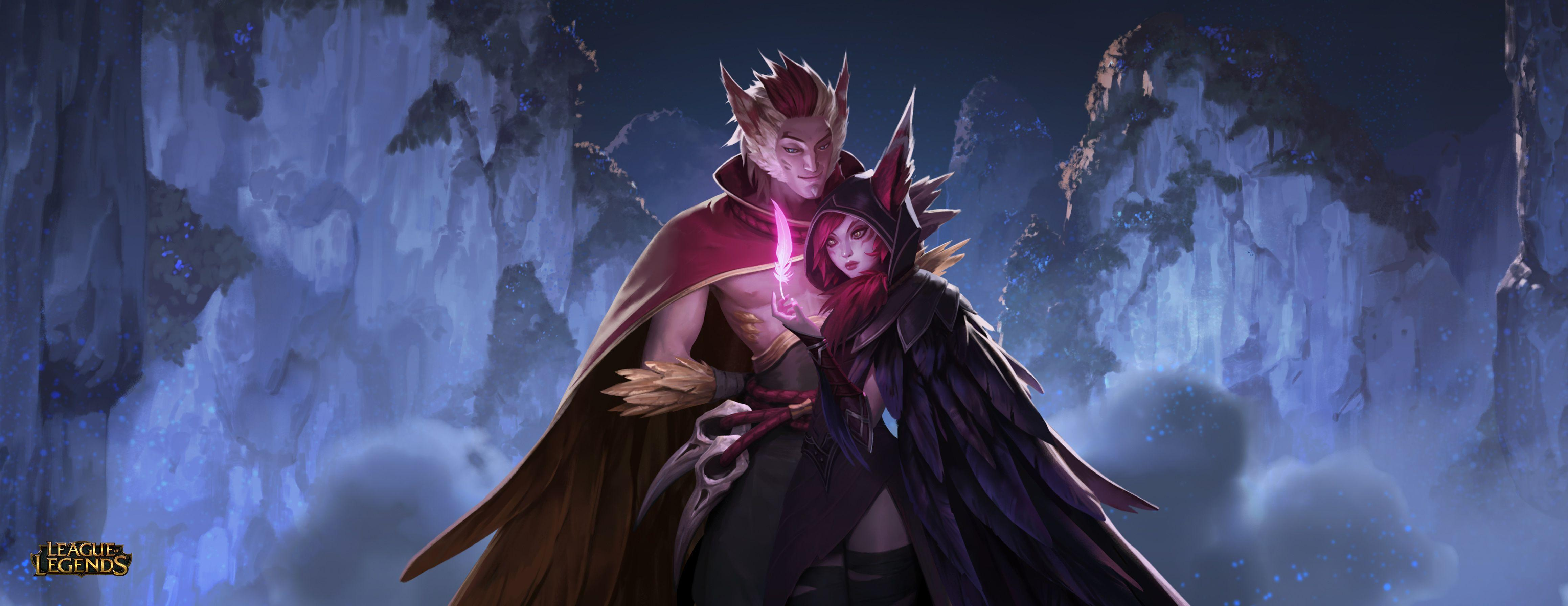 Xayah and Rakan League Of Legends Wallpapers | Art-of-LoL