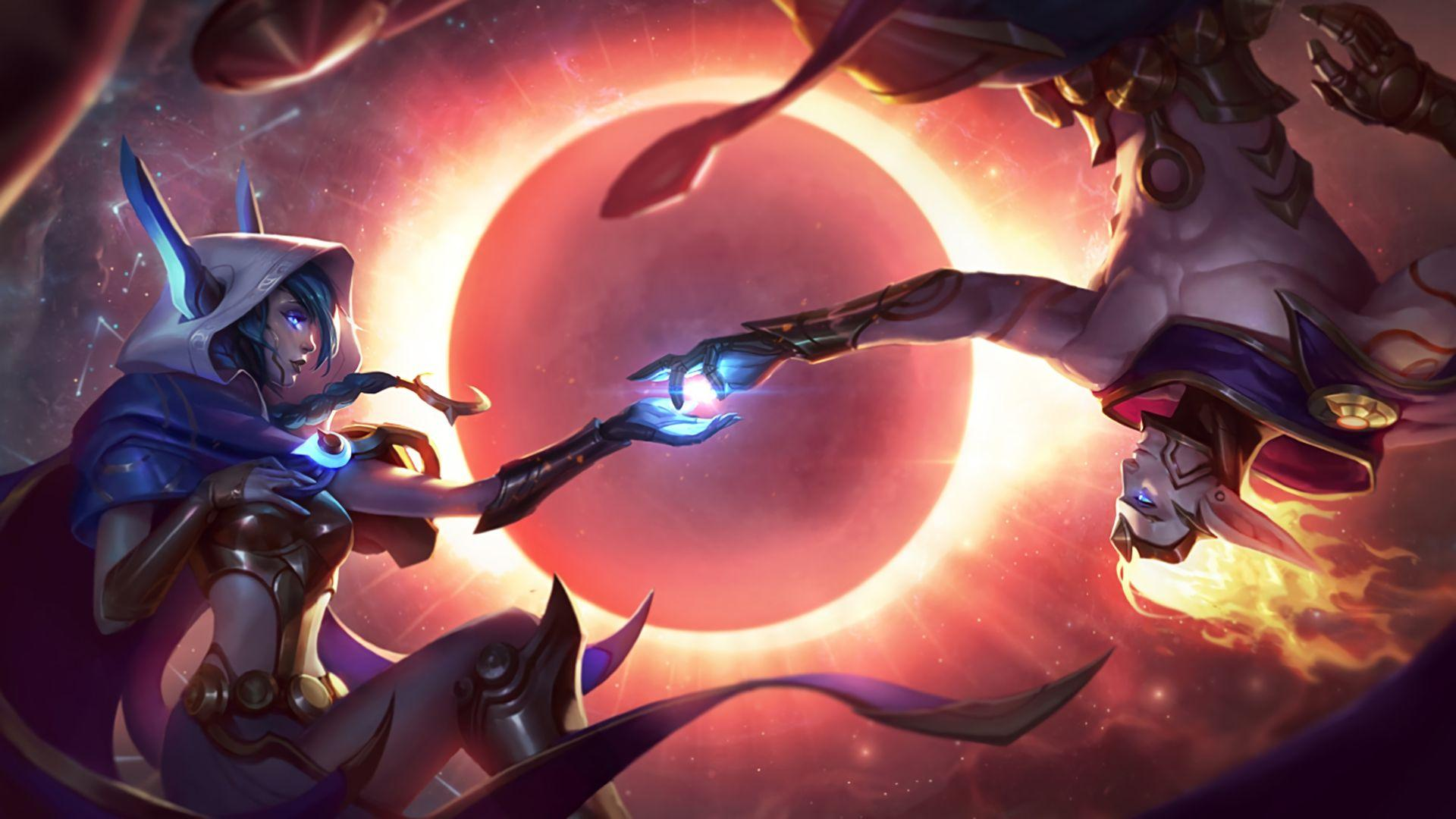 Cosmic Dusk Xayah Splash Art Skin Wallpaper #37488