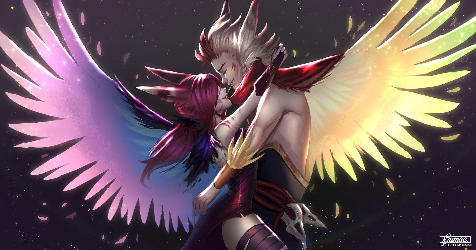 ArtStation - Xayah & Rakan, Mary Montés | League of Legend | Pinterest