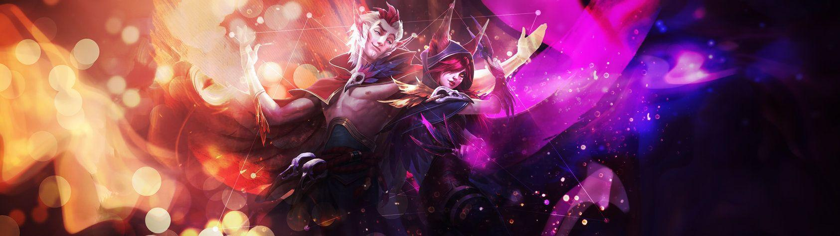 Decided to show my Rakan and Xayah wallpaper (3840x1080) | league ...