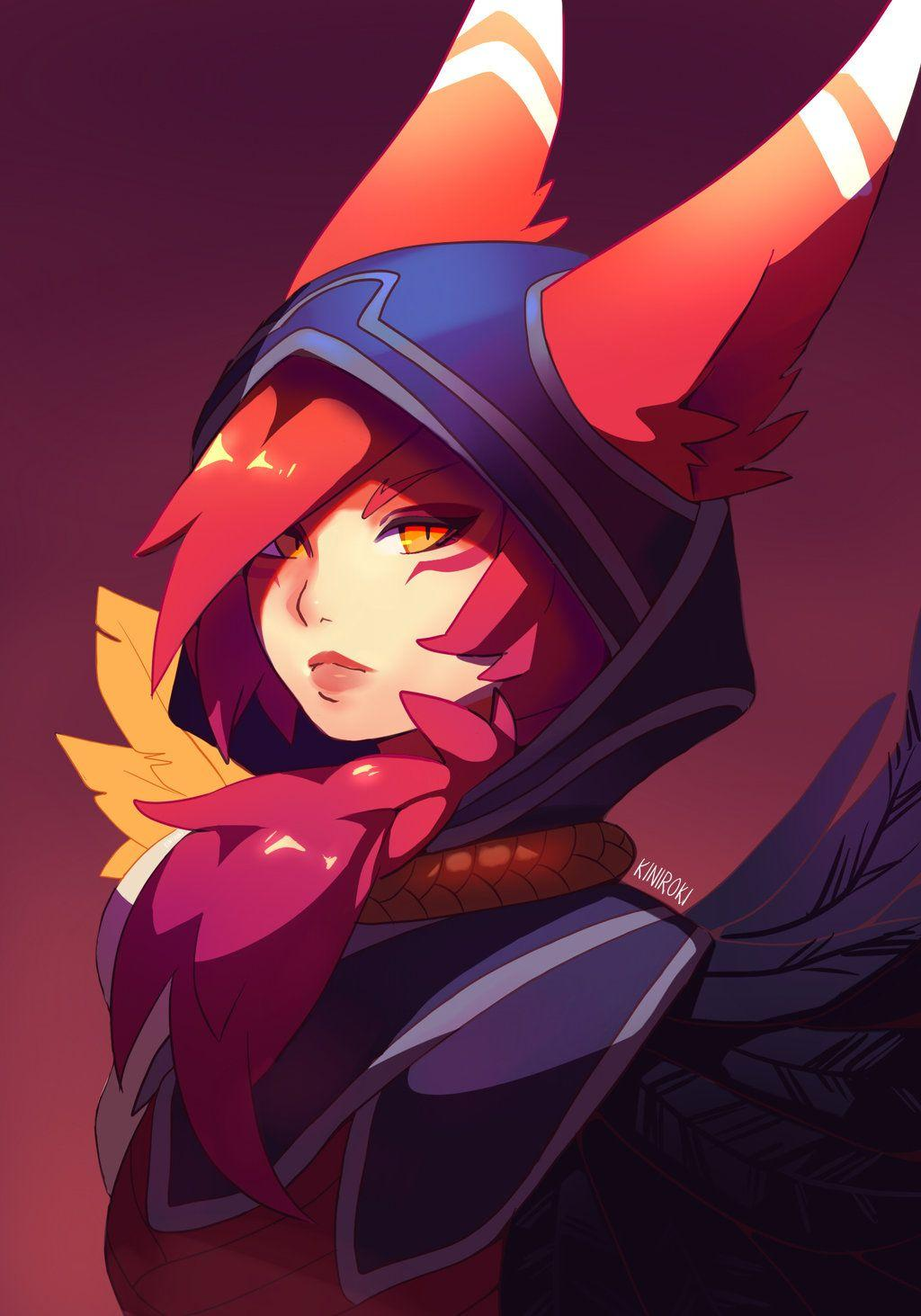 Xayah-The-Rebel-by-Kiniroki-wallpaper-wp4209700 - live wallpaper ...